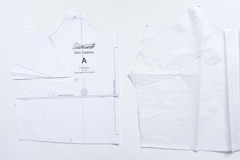 Bust Adjustments Catarina Dress by Seamwork | Sew DIY
