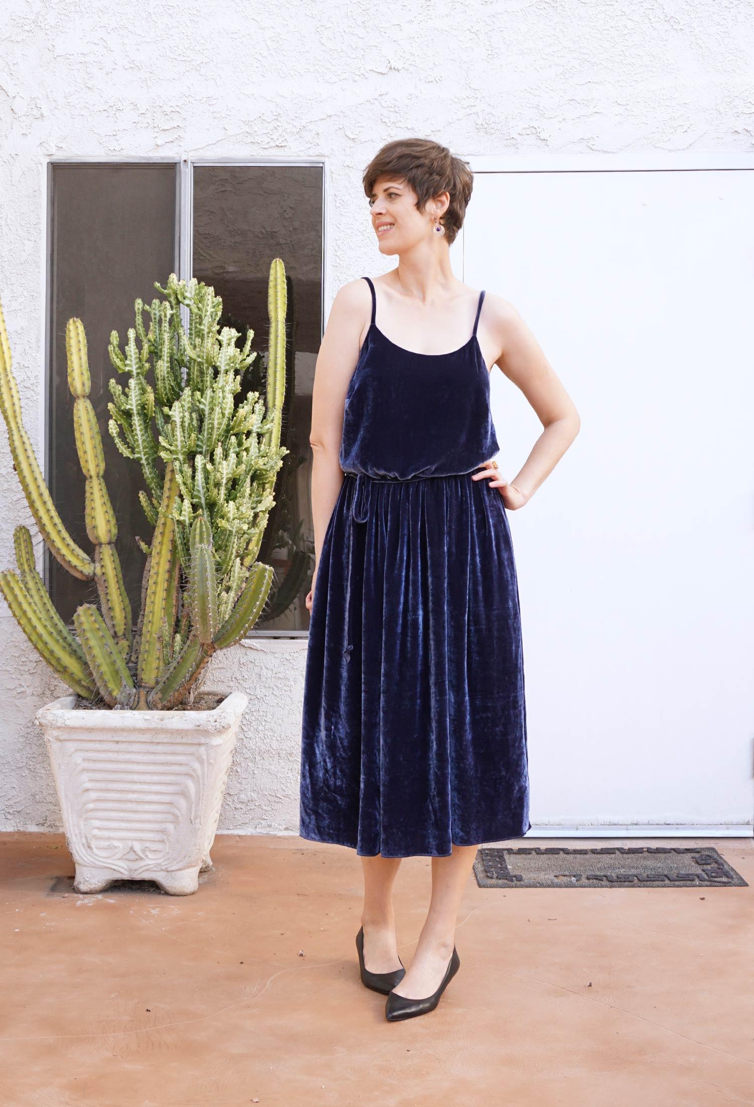 DIY Velvet Slip Dress –Catarina Dress by Seamwork | Sew DIY