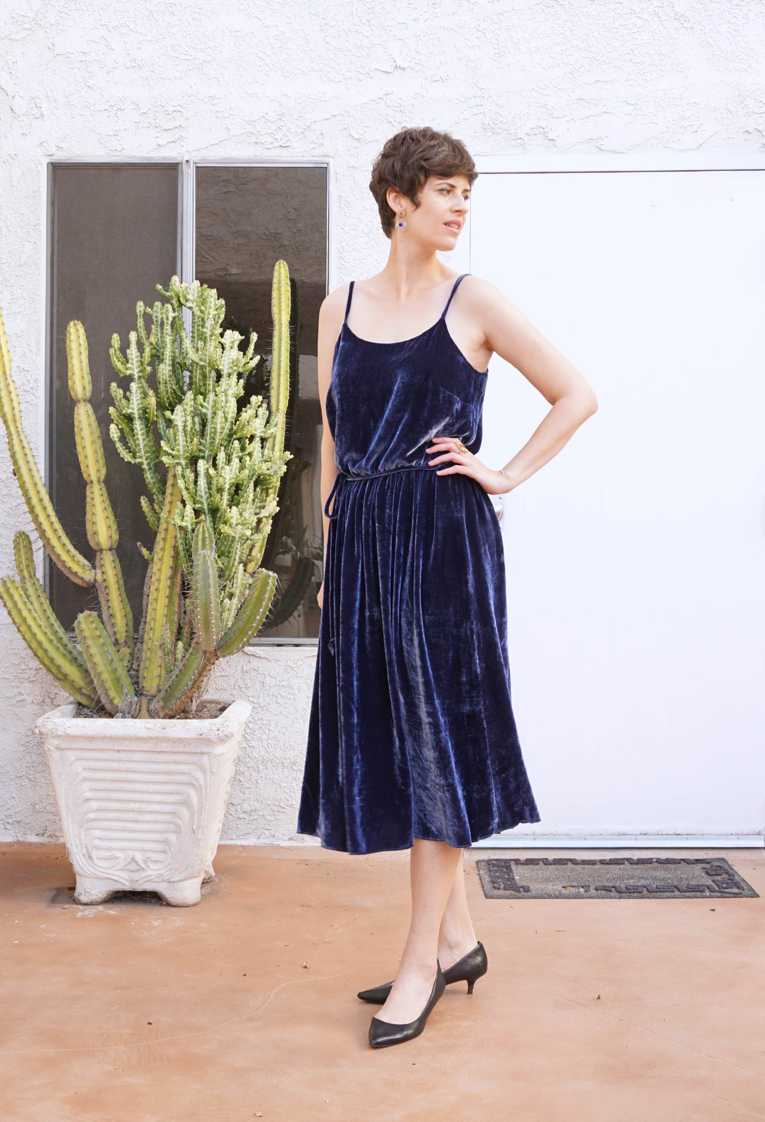 DIY Velvet Slip Dress –Catarina Dress by Seamwork