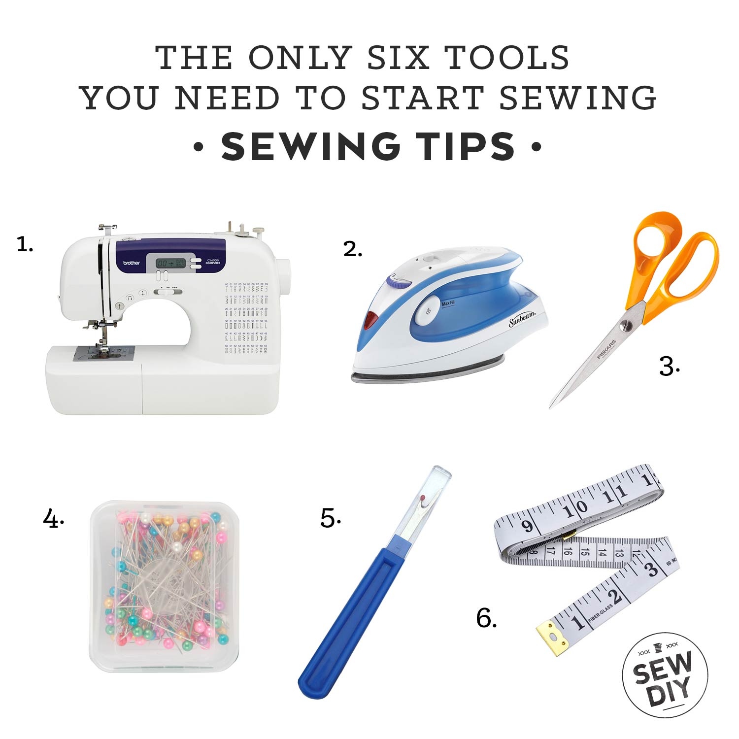 The Only 6 Tools You Need to Start Sewing | Sew DIY