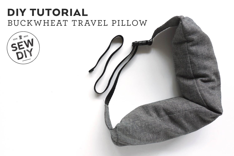 DIY Tutorial –How to Sew a Buckwheat Travel Pillow | Sew DIY