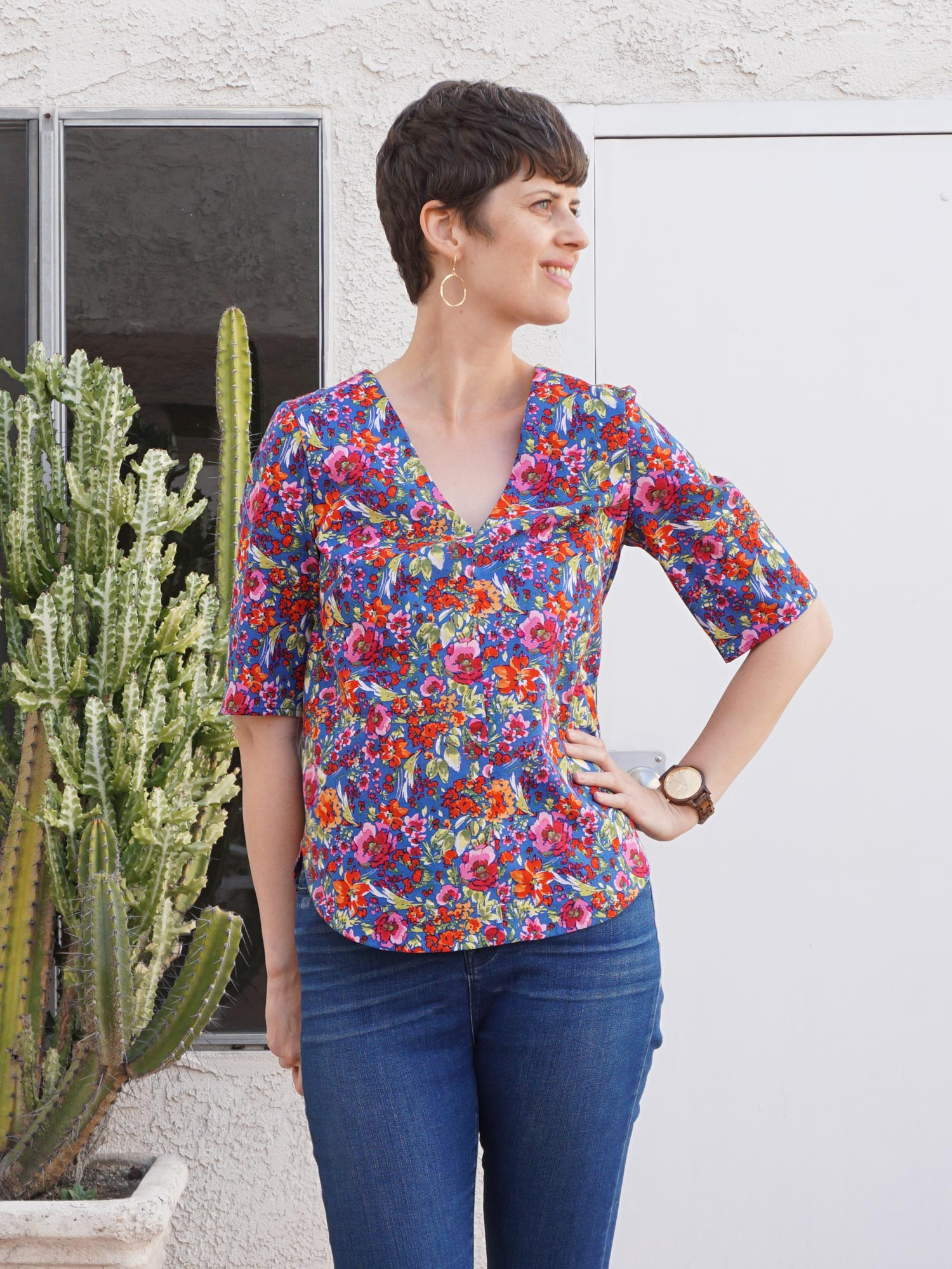 DIY Floral Blouse – Review of the Dove Blouse sewing pattern by Megan Nielsen