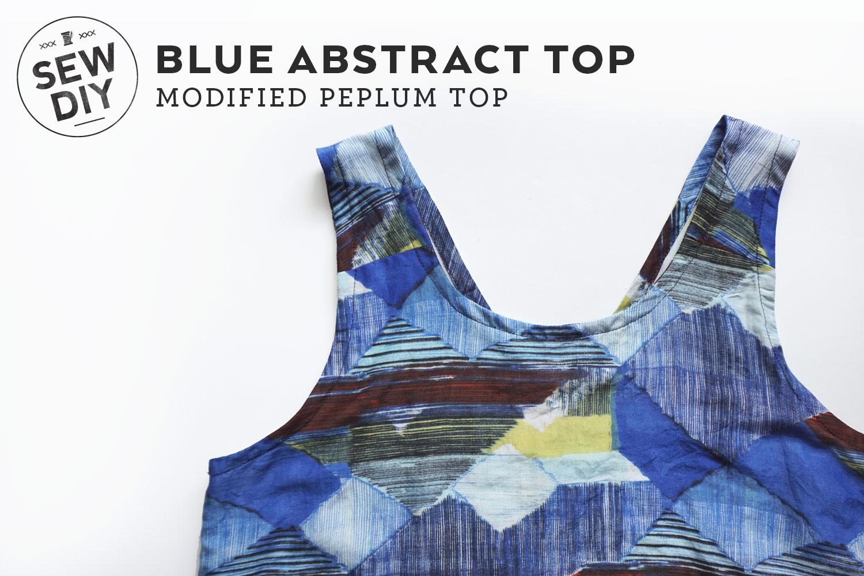 DIY Blue Abstract Top   Sew DIY