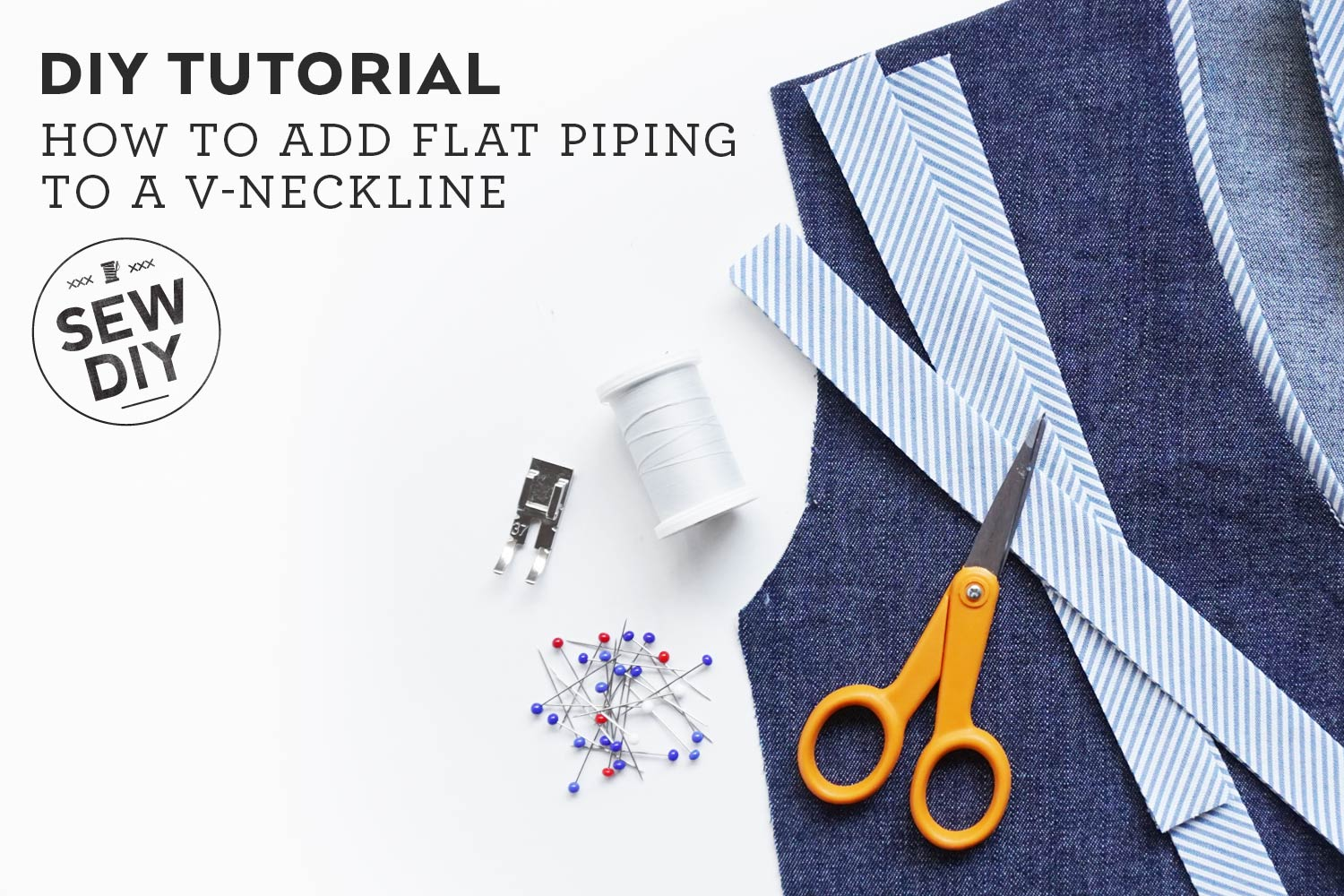 DIY Tutorial –How to Sew Flat Piping Trim
