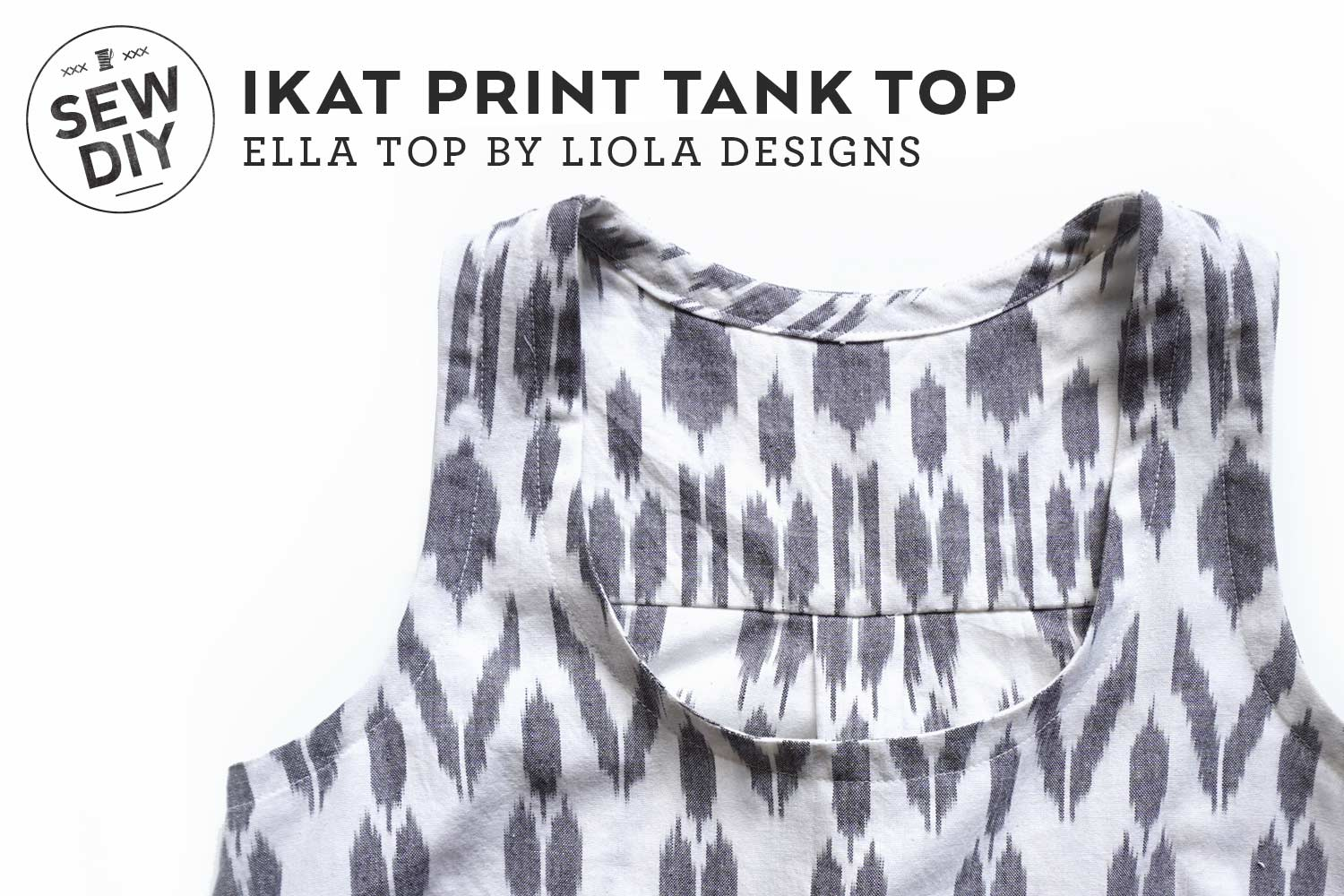 DIY Ikat Print Ella Top | Sew DIY