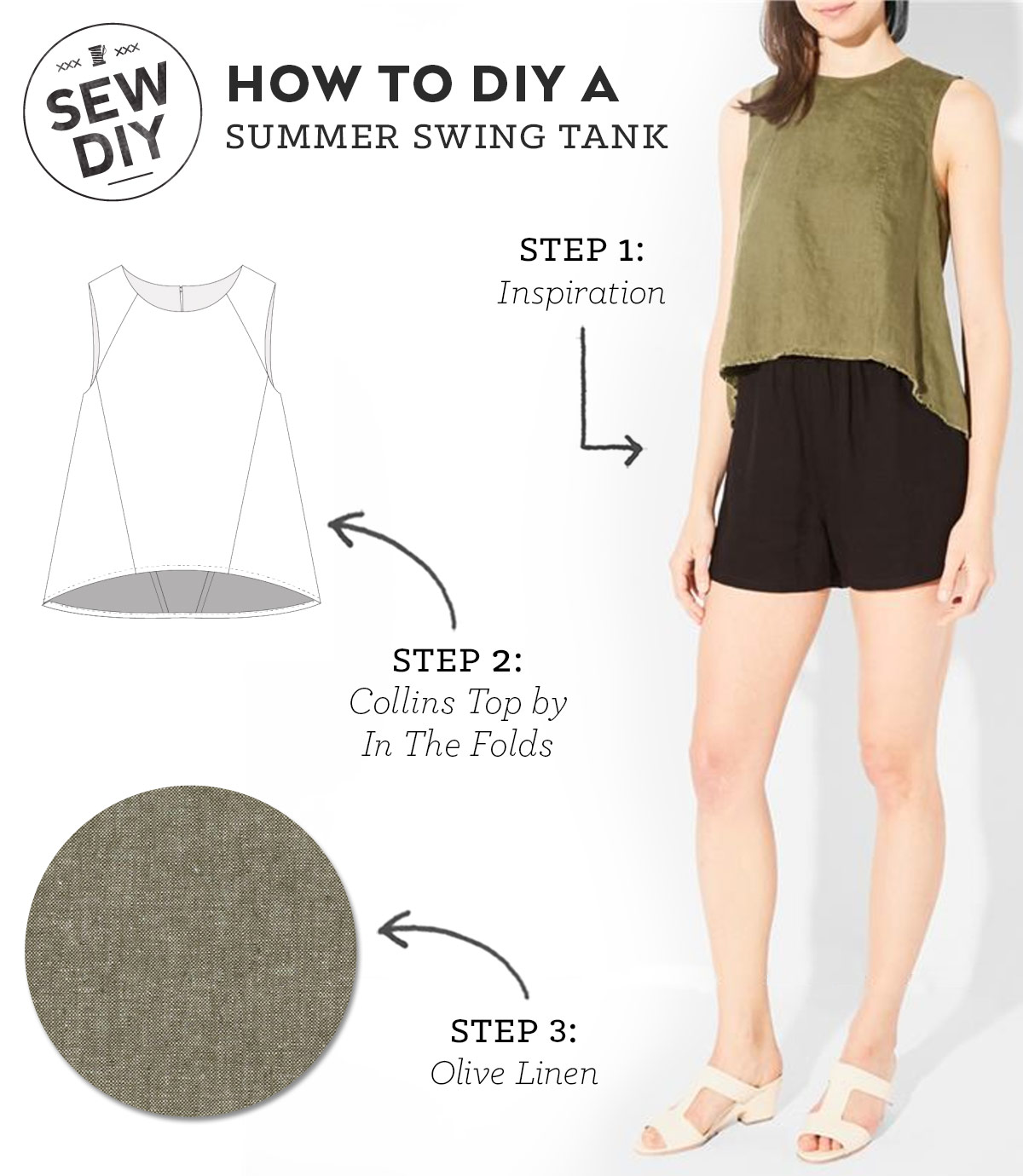 How to DIY a Summer Swing Tank | Sew DIY