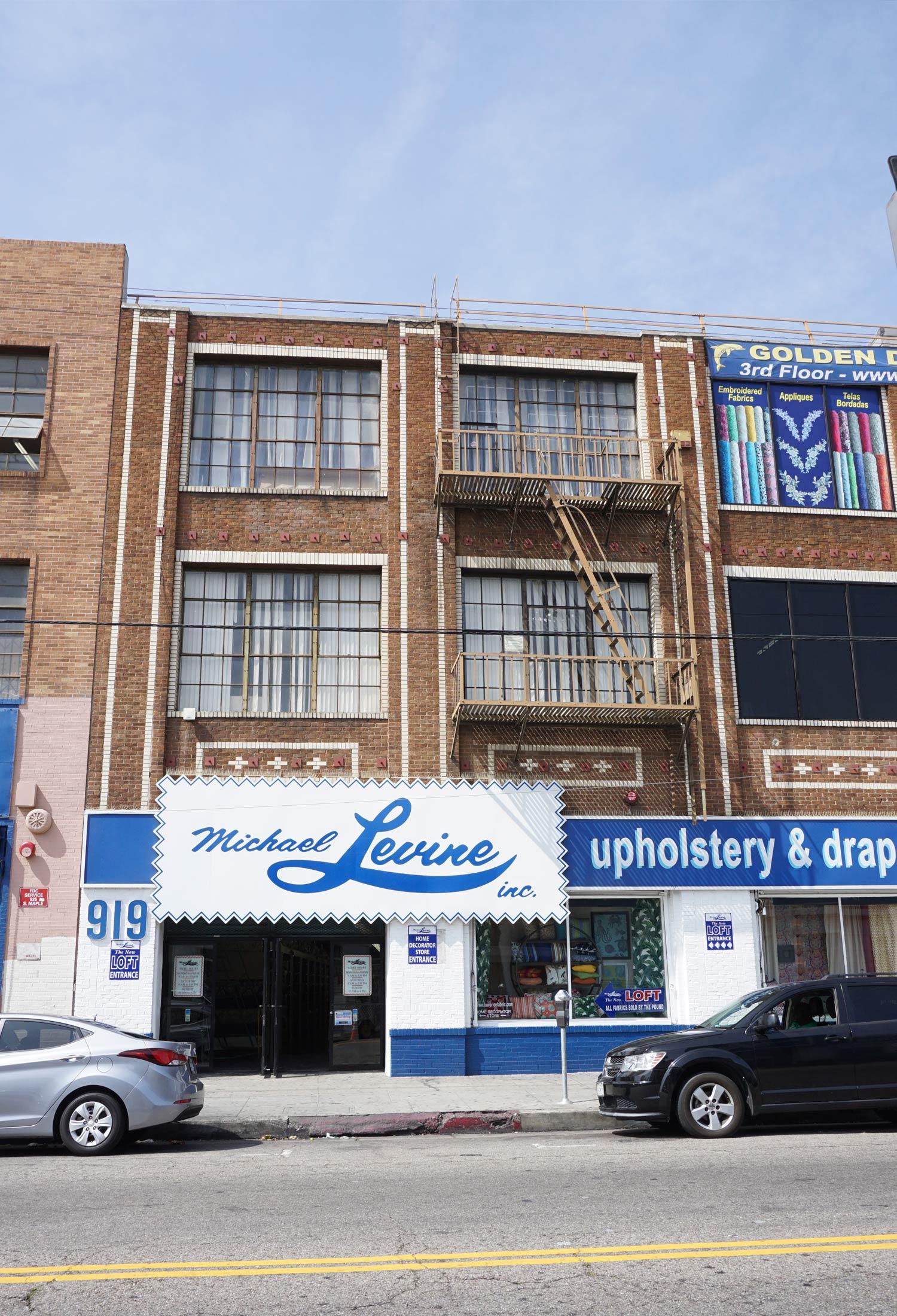 Michael Levine (LOFT entrance), LA Fabric District
