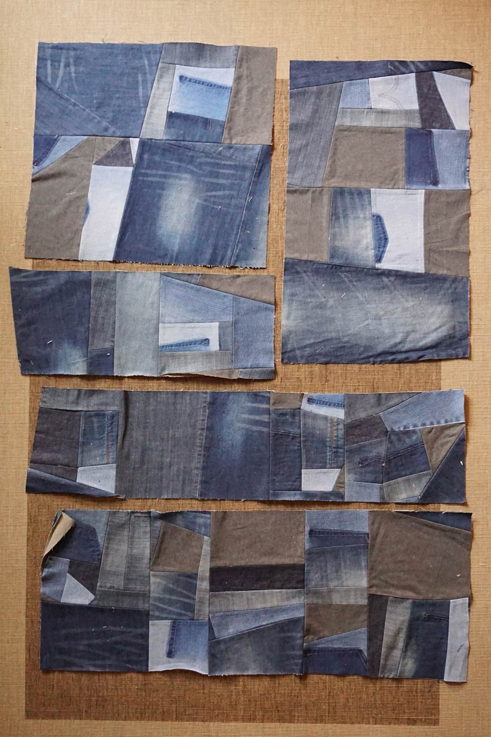 DIY Improvisational Denim Quilt | Sew DIY