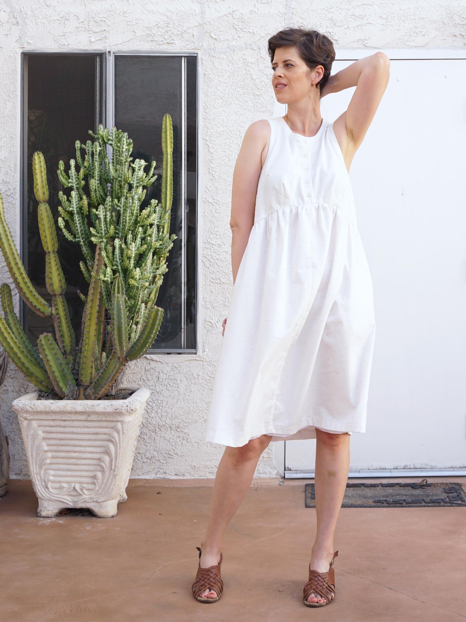 DIY White Summer Lisa Dress   Sew DIY