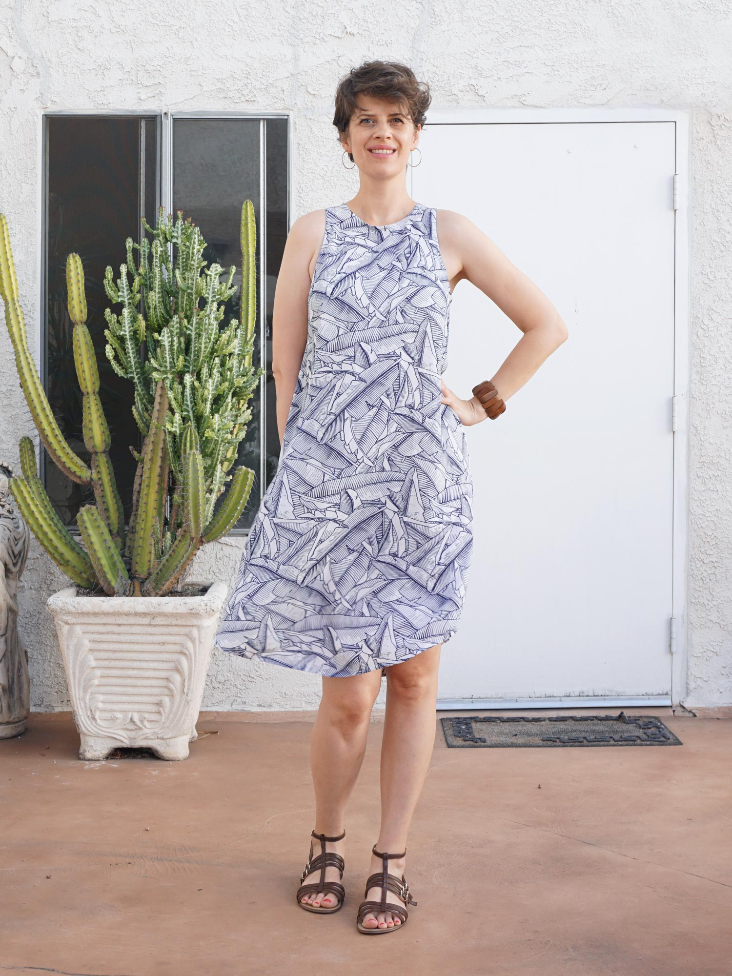 DIY Tropical Swing Dress –Review of the Trevi Dress pattern by Hey June Patterns | Sew DIY
