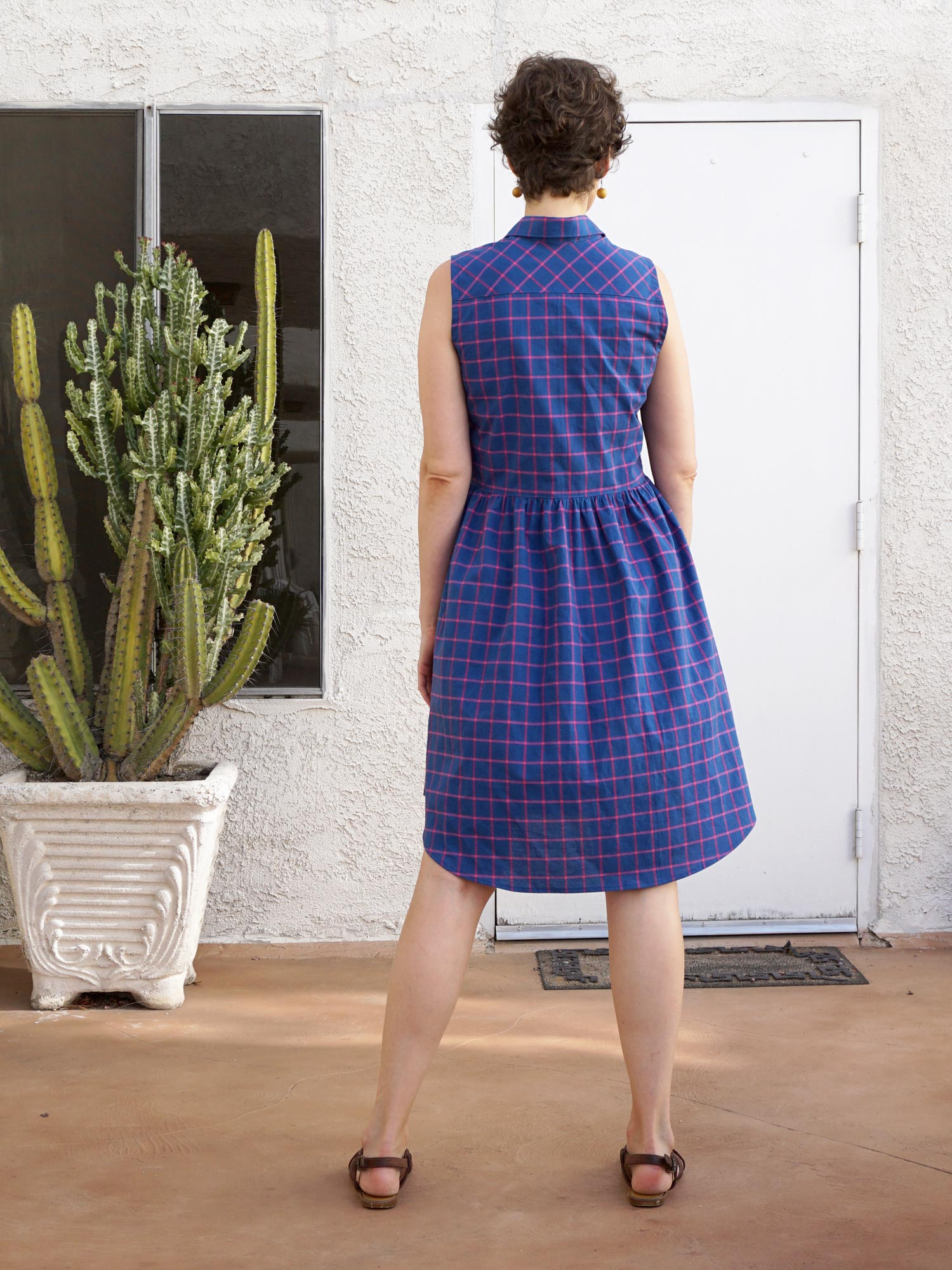DIY Check Print Alder Shirtdress | Sew DIY