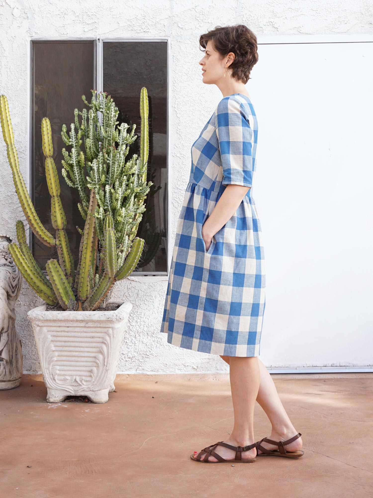 DIY V-neck Shirtdress – A review of the Darling Ranges Dress pattern by Megan Nielsen | Sew DIY