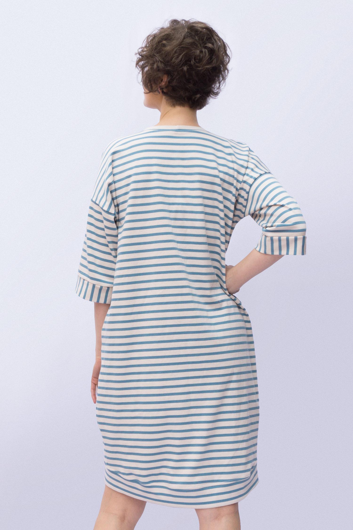 Lou Box Dress 1, View A back