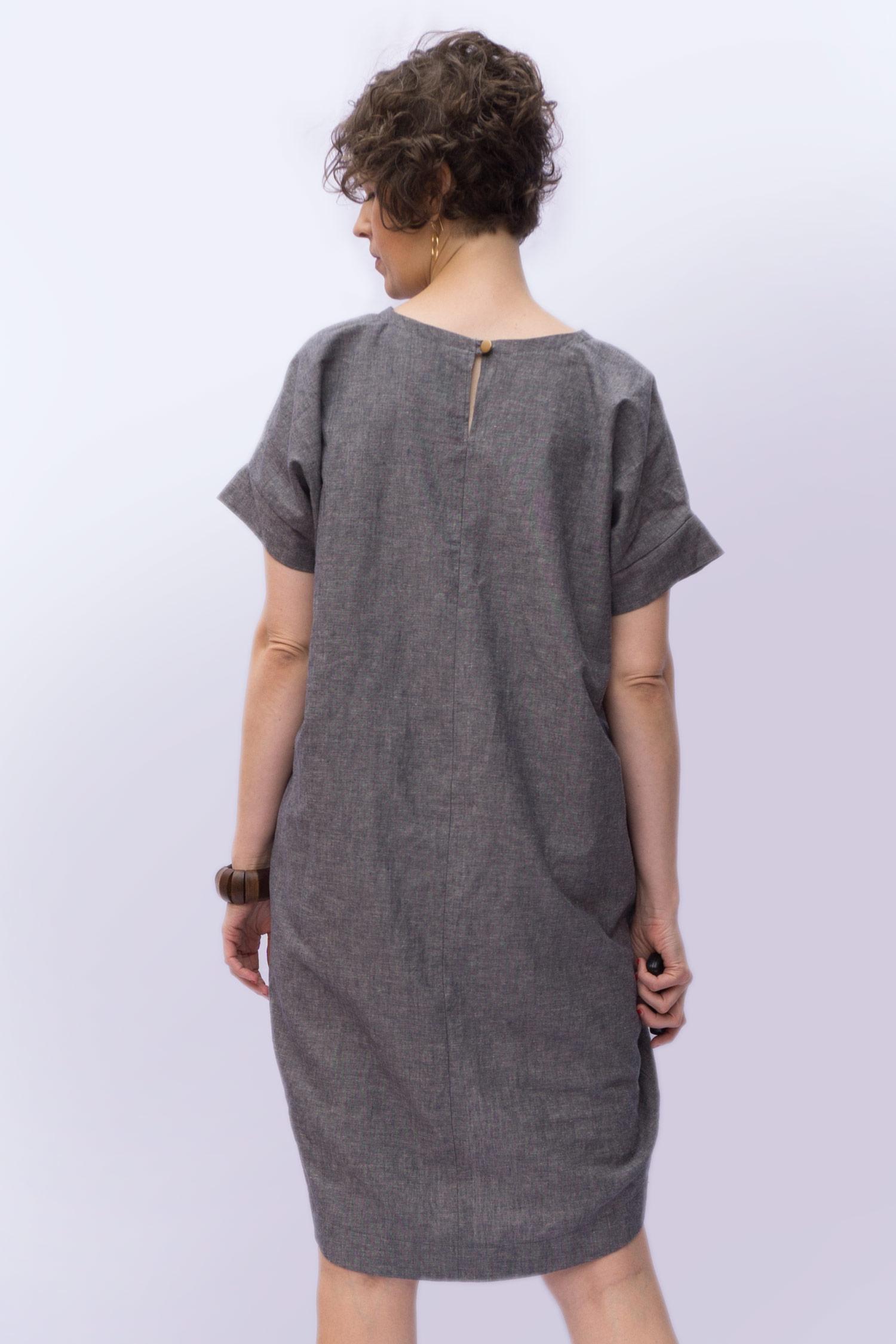 Lou Box Dress 1, View B back