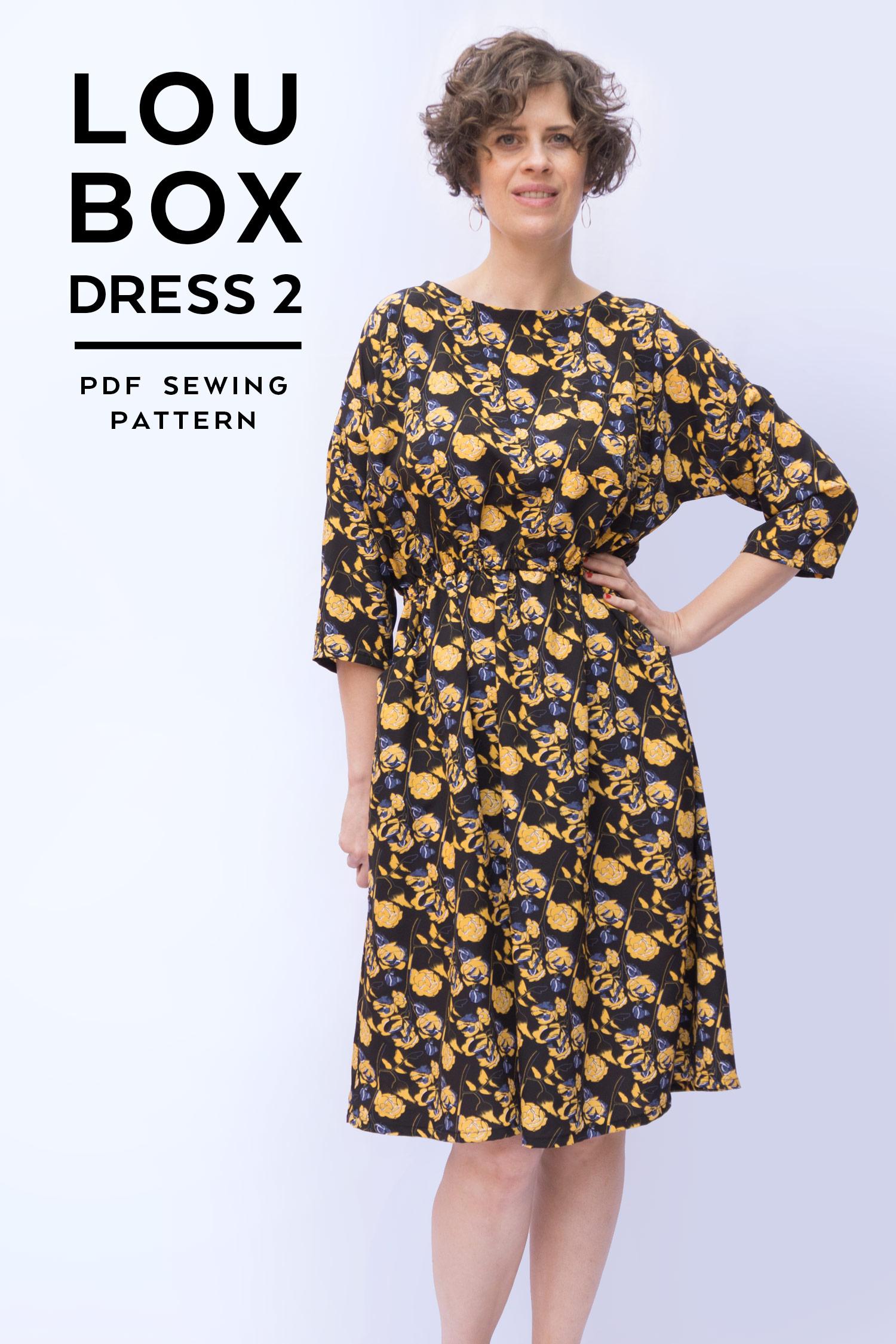 Introducing the Lou Box Dress 2   Sew DIY