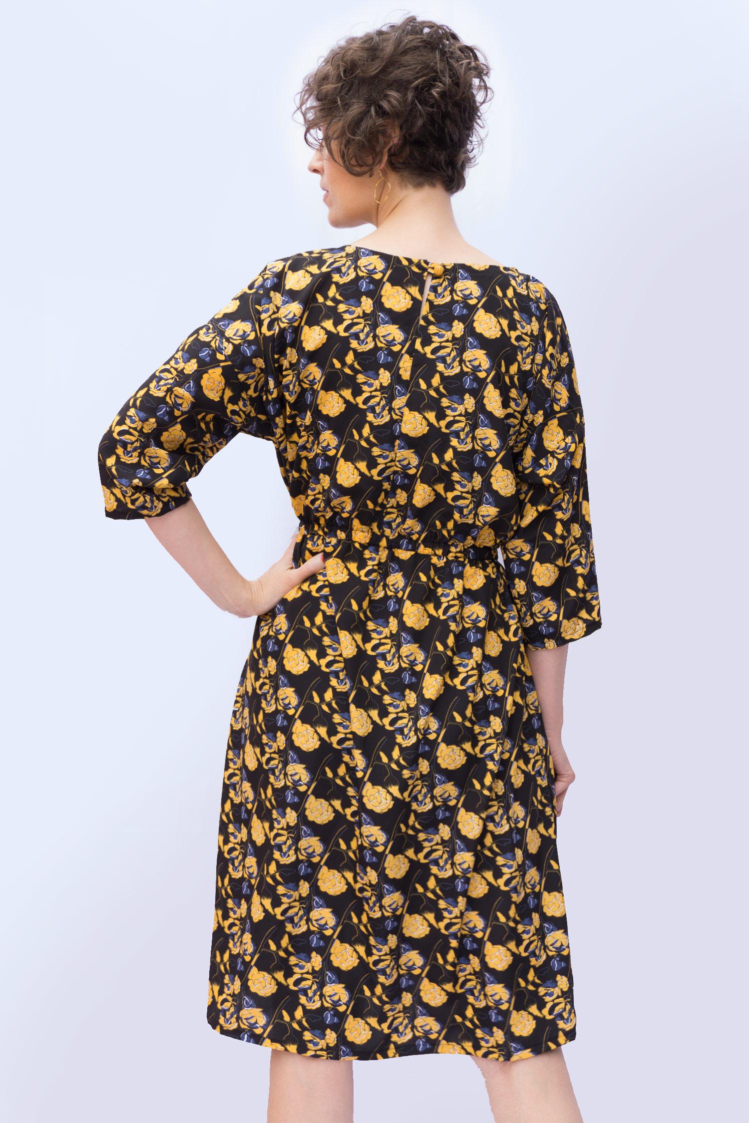 Lou Box Dress 2, View A back
