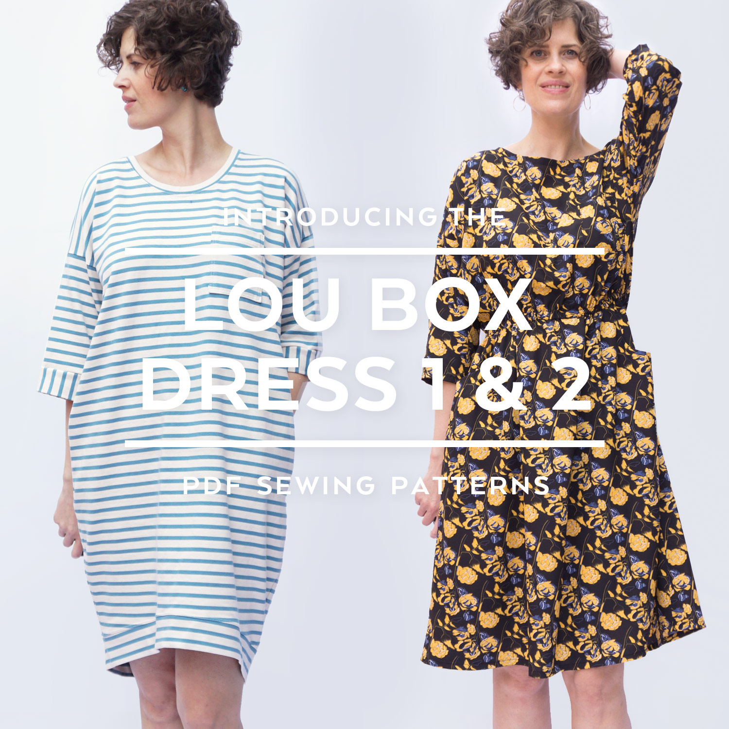 Introducing the Lou Box Dress 1 & 2 by Sew DIY