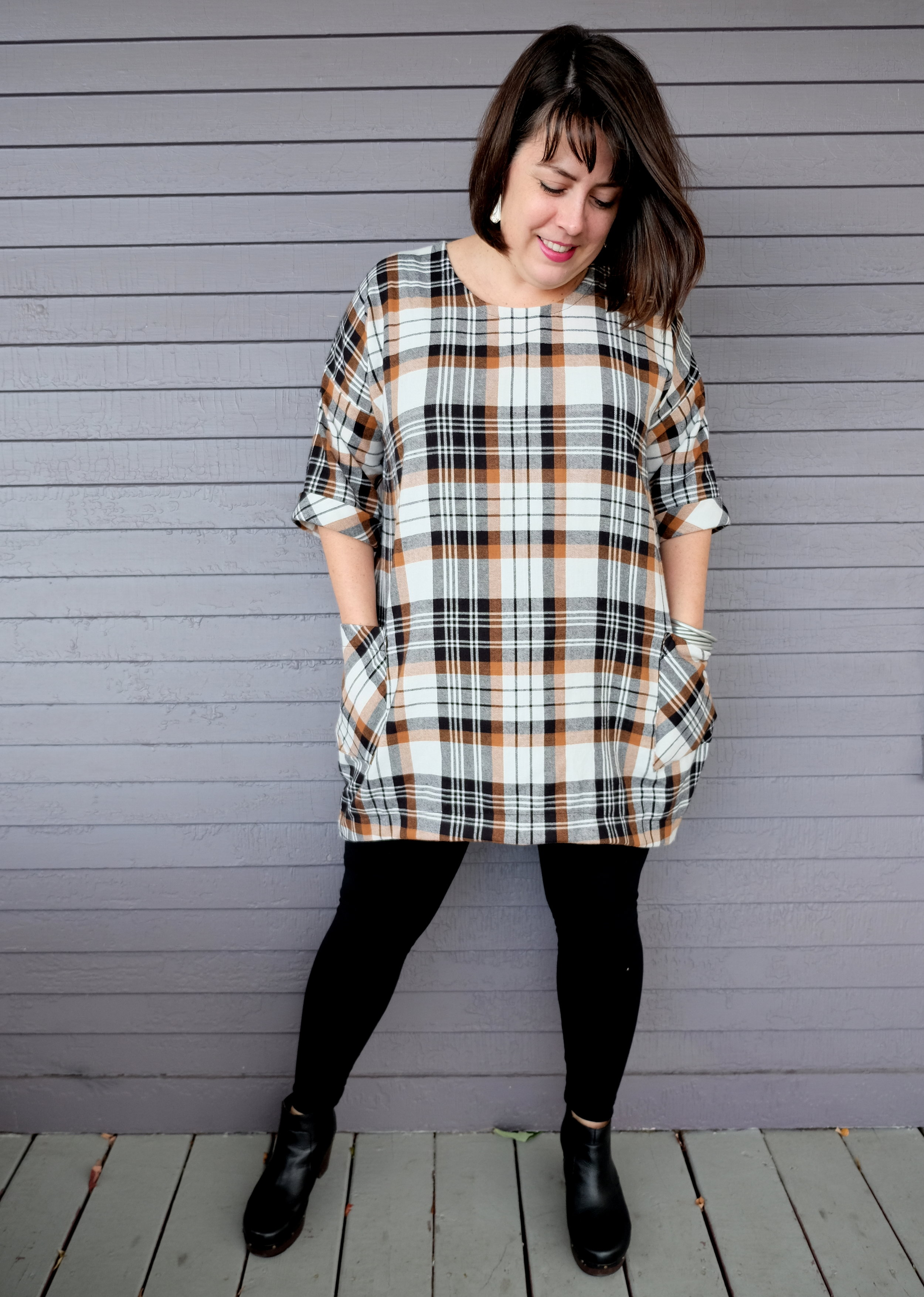 Meg of Cookin & Craftin in the Lou Box Dress 1