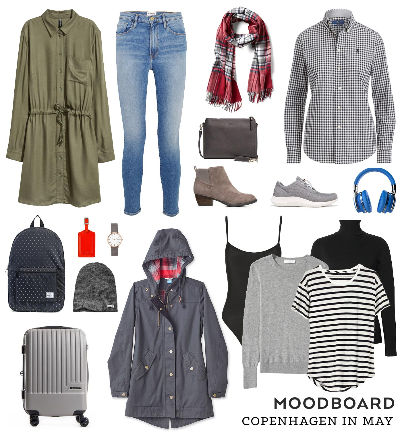 Moodboard – Copenhagen in May Travel Wardrobe | Sew DIY