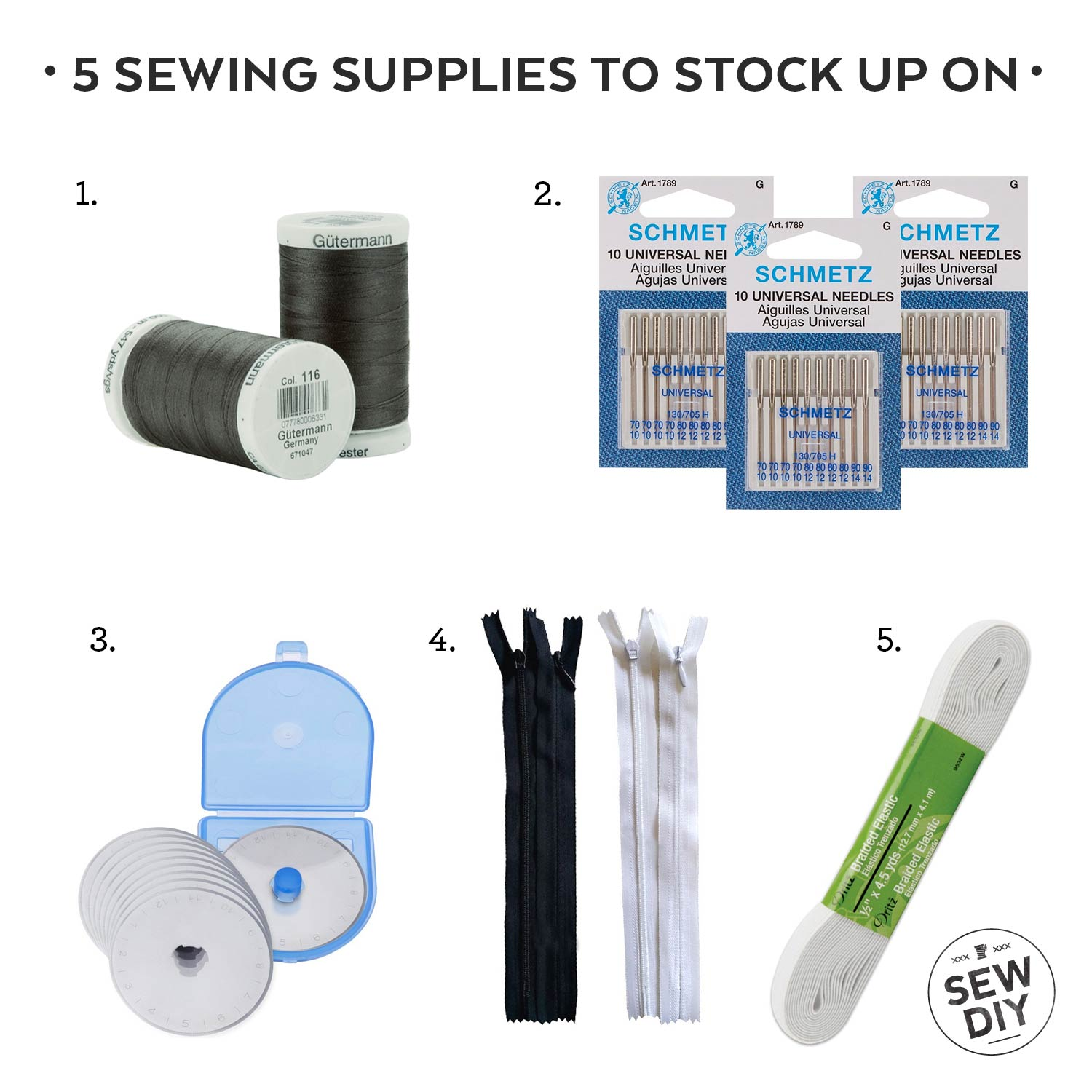 The Five Sewing Supplies You Should Always Stock Up On | Sew DIY