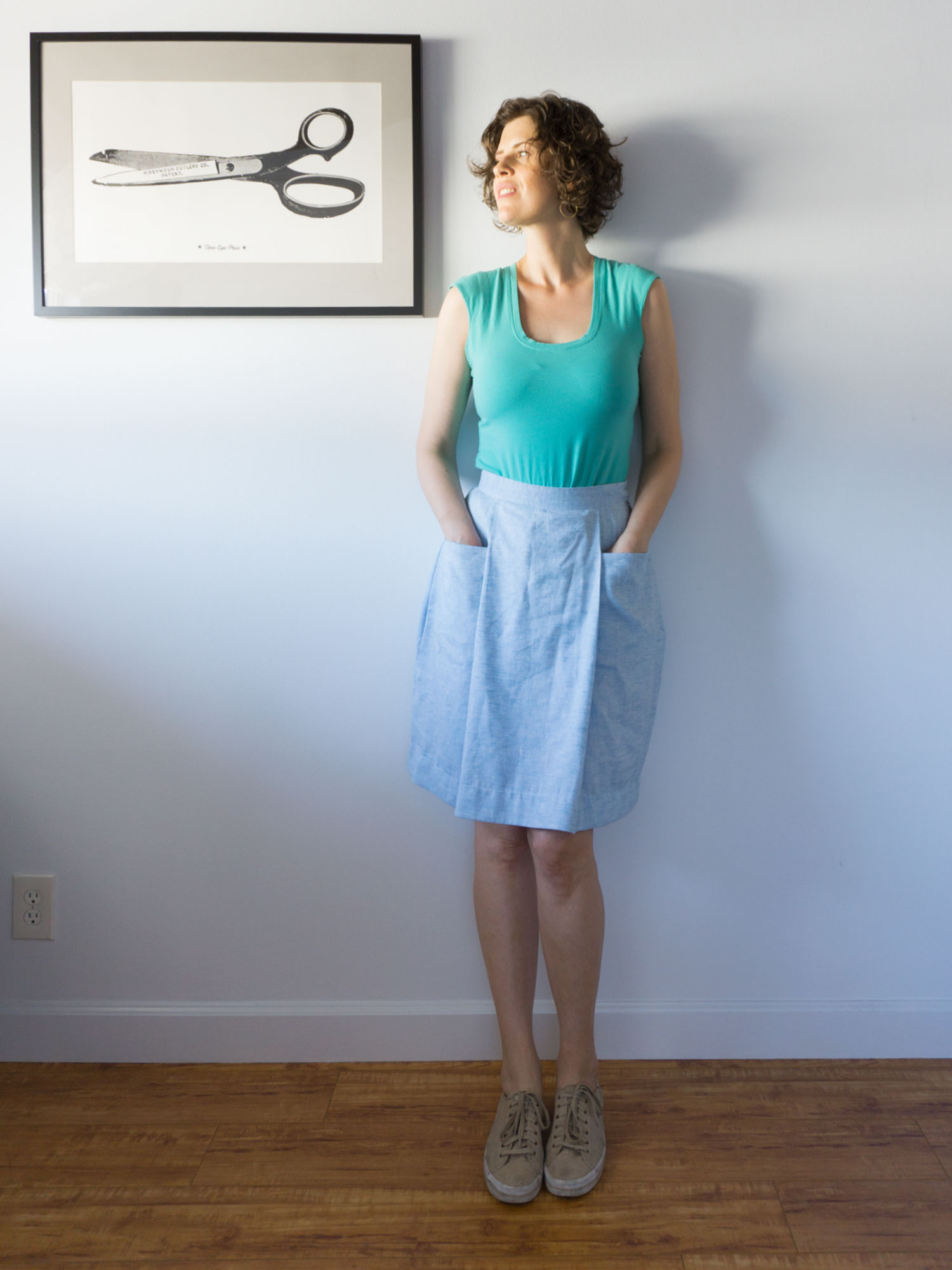 DIY Pleated Skirt – Review of the Patti Pocket Skirt by Amy Nicole | Sew DIY