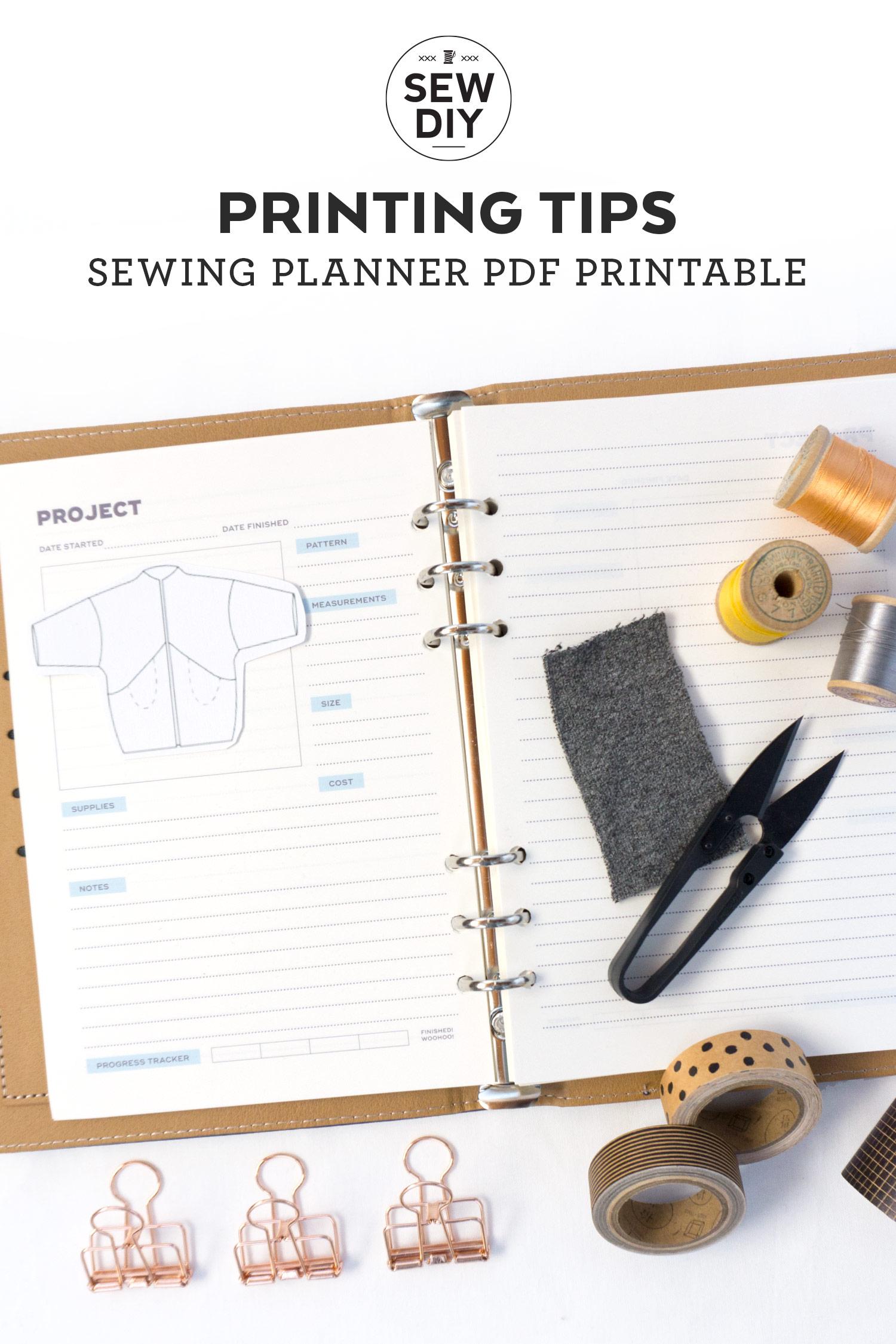 Printable Planner Printing Tips | Sew DIY