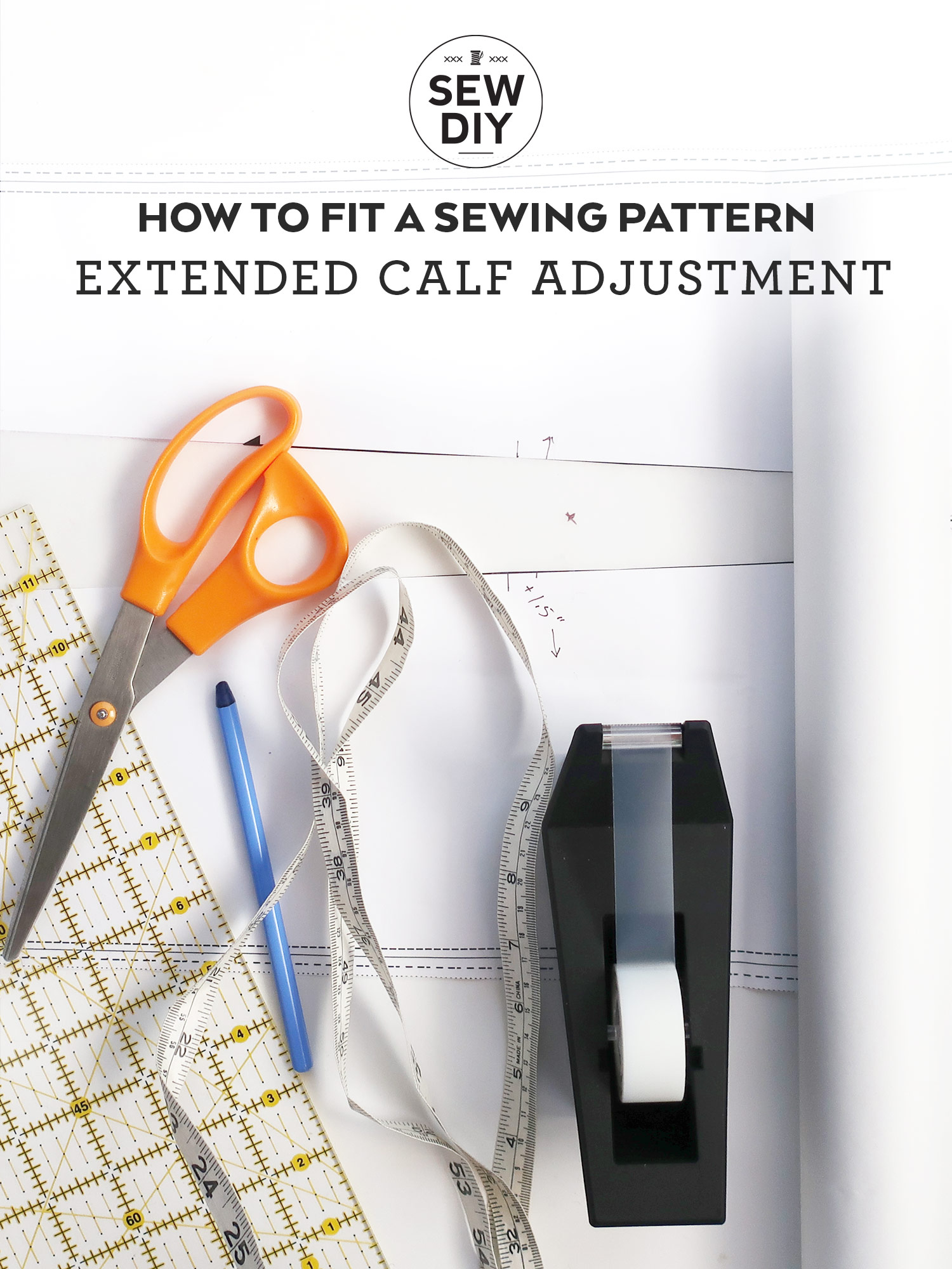 How to make a full calf adjustment Sewing tutorial   Sew DIY