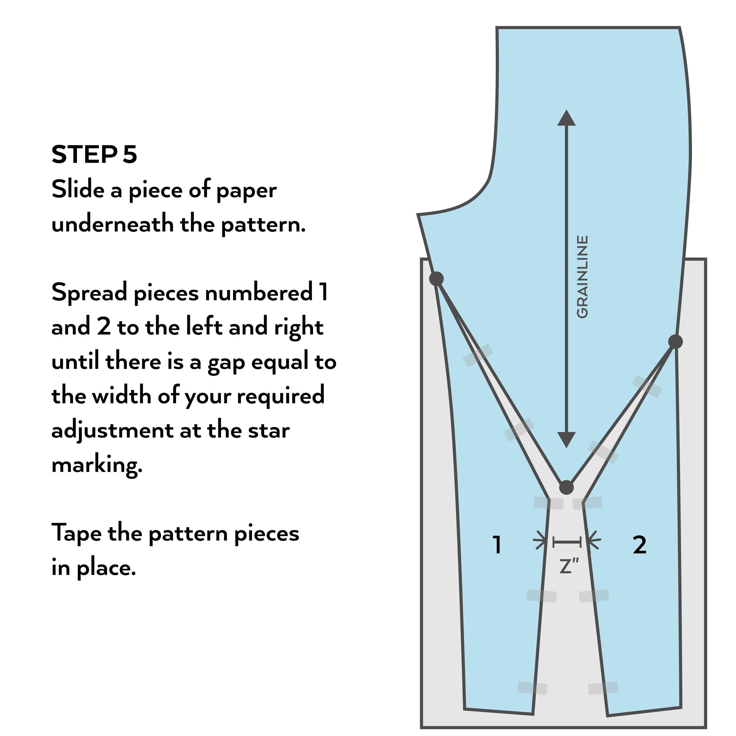 How to make a full calf adjustment   Step 5