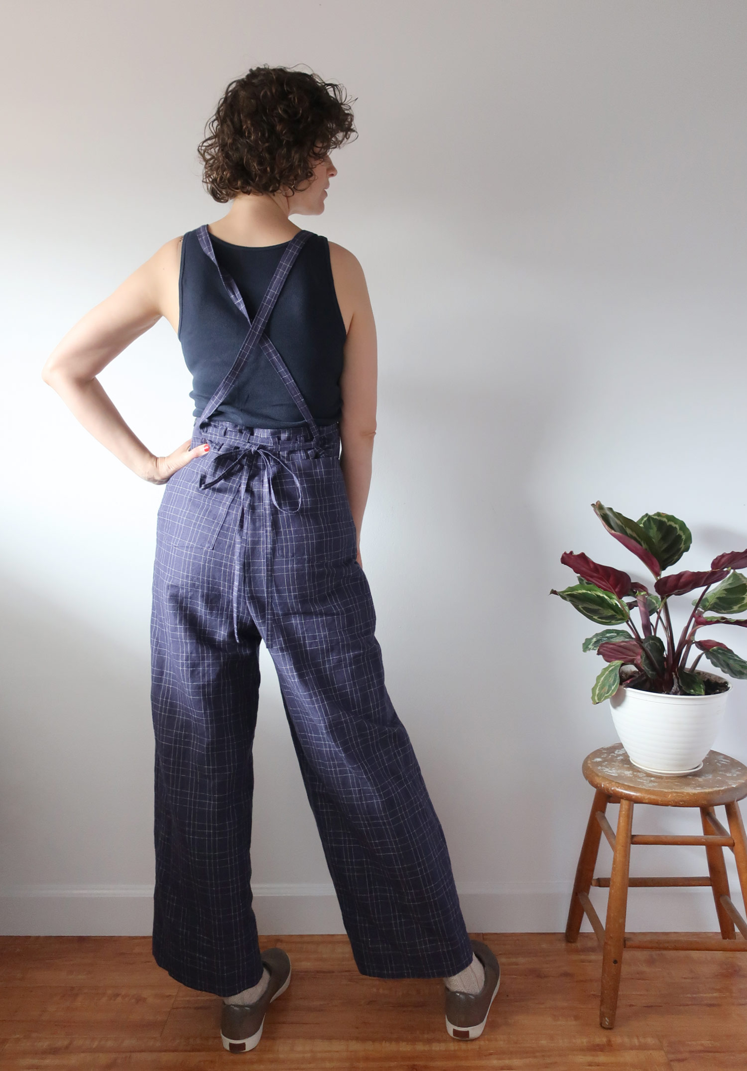 Check Burnside Bibs - Sew DIY