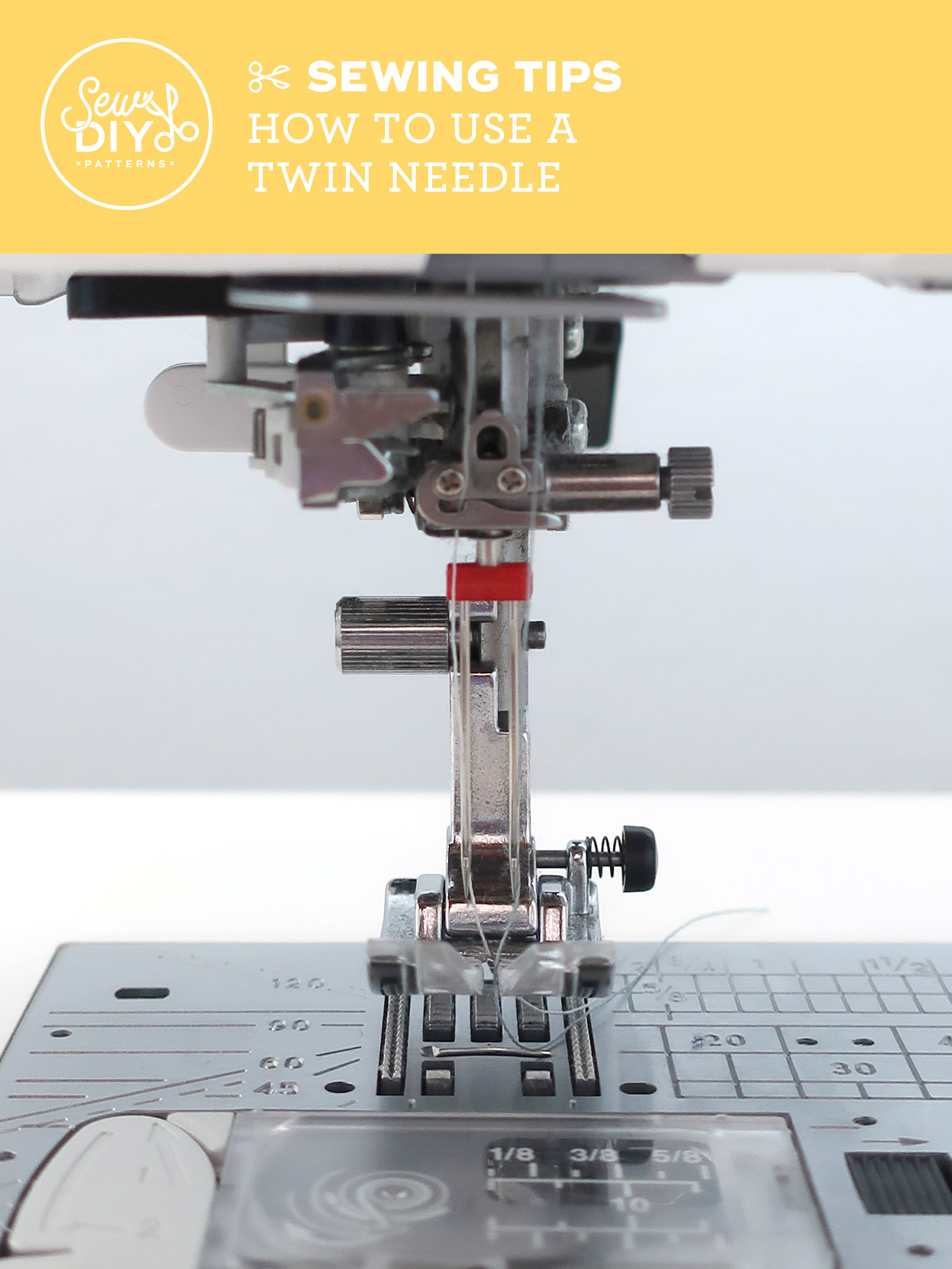 Learn how to use a twin needle and trouble shoot common issues | Sew DIY