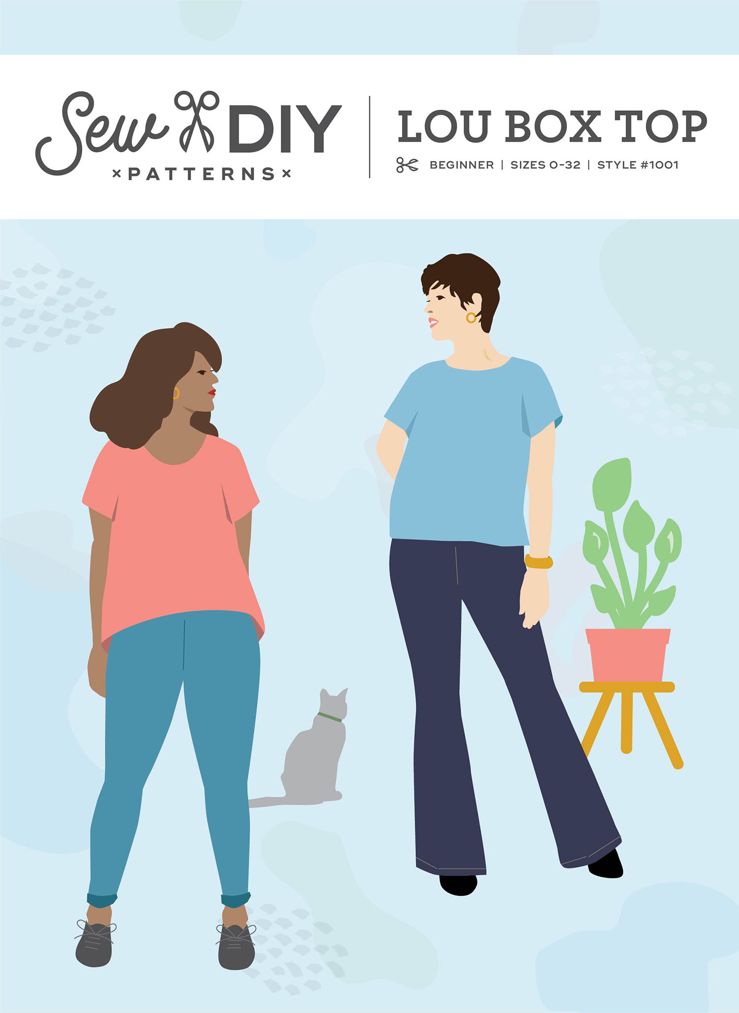 Announcing! The re-launch of the Lou Box Top pdf sewing pattern from Sew DIY