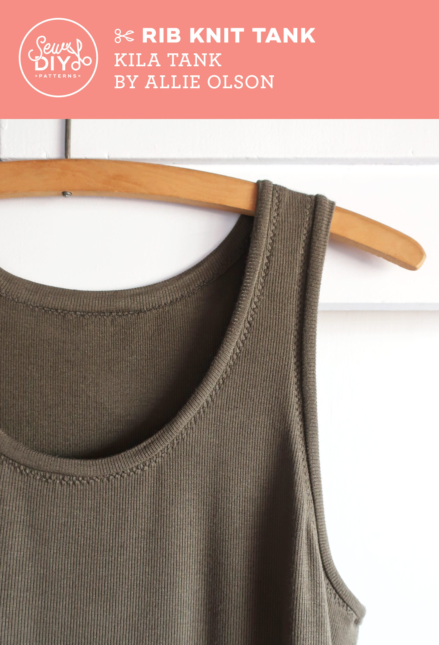DIY Fitted Rib Knit Tank - Sew DIY