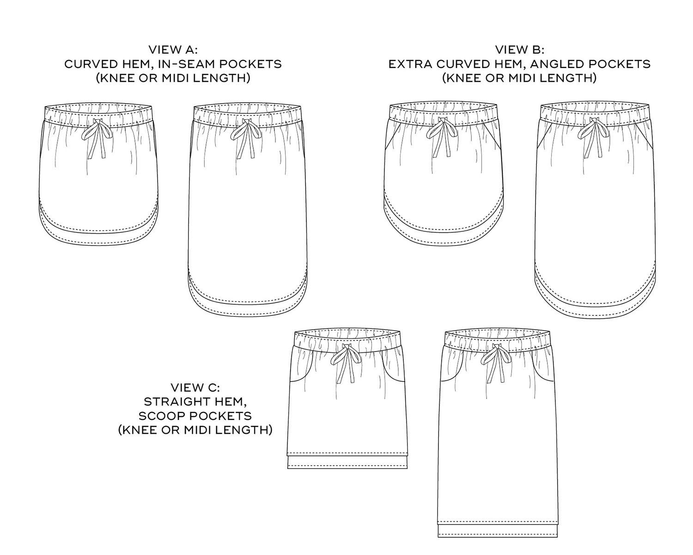 Lela Skirt pattern by Sew DIY