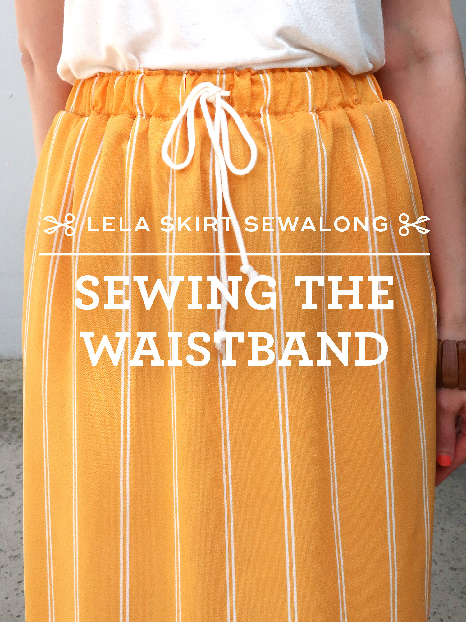 How to sew an elastic waistband - Lela Skirt Sewalong by Sew DIY