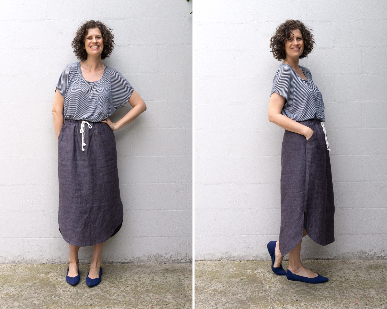 How to Style an Elastic Waist Skirt - Lou Box Top and Lela Skirt by Sew DIY