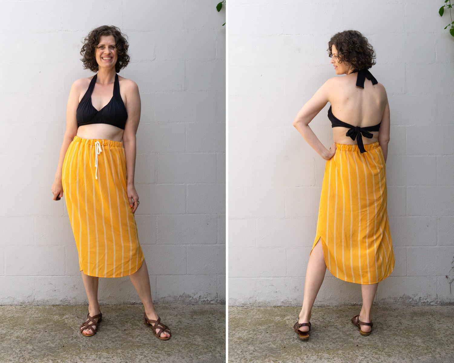 How to Style the Lela Skirt as a Swim Coverup