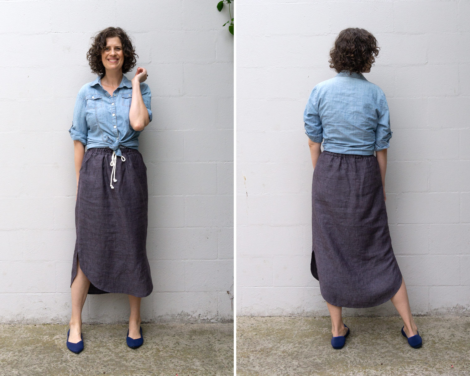 How to Style the Lela Skirt with a Button Down