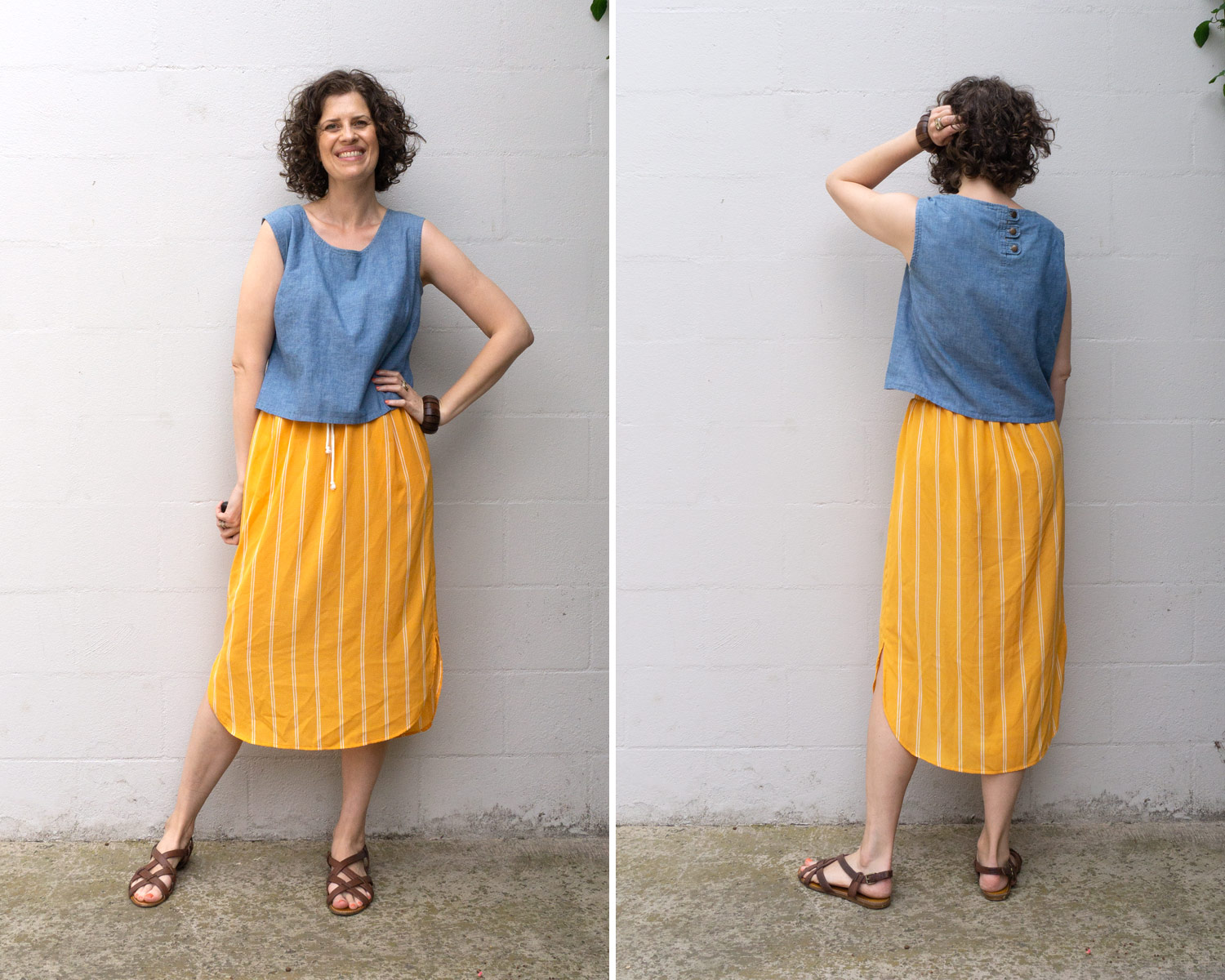 How to style the Lela Skirt with a woven crop top
