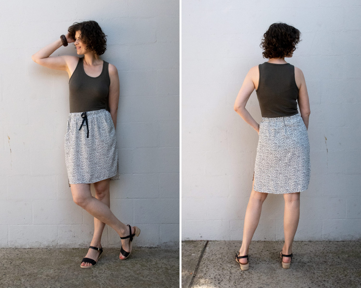How to style the Lela Skirt with a fitted knit top
