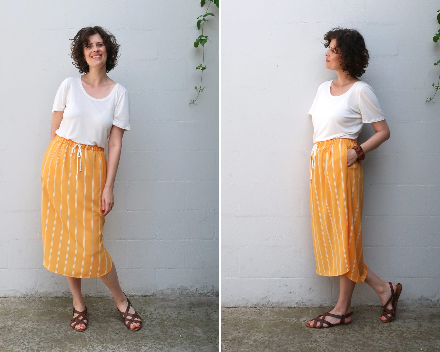 How to style the Lela Skirt with a T-shirt
