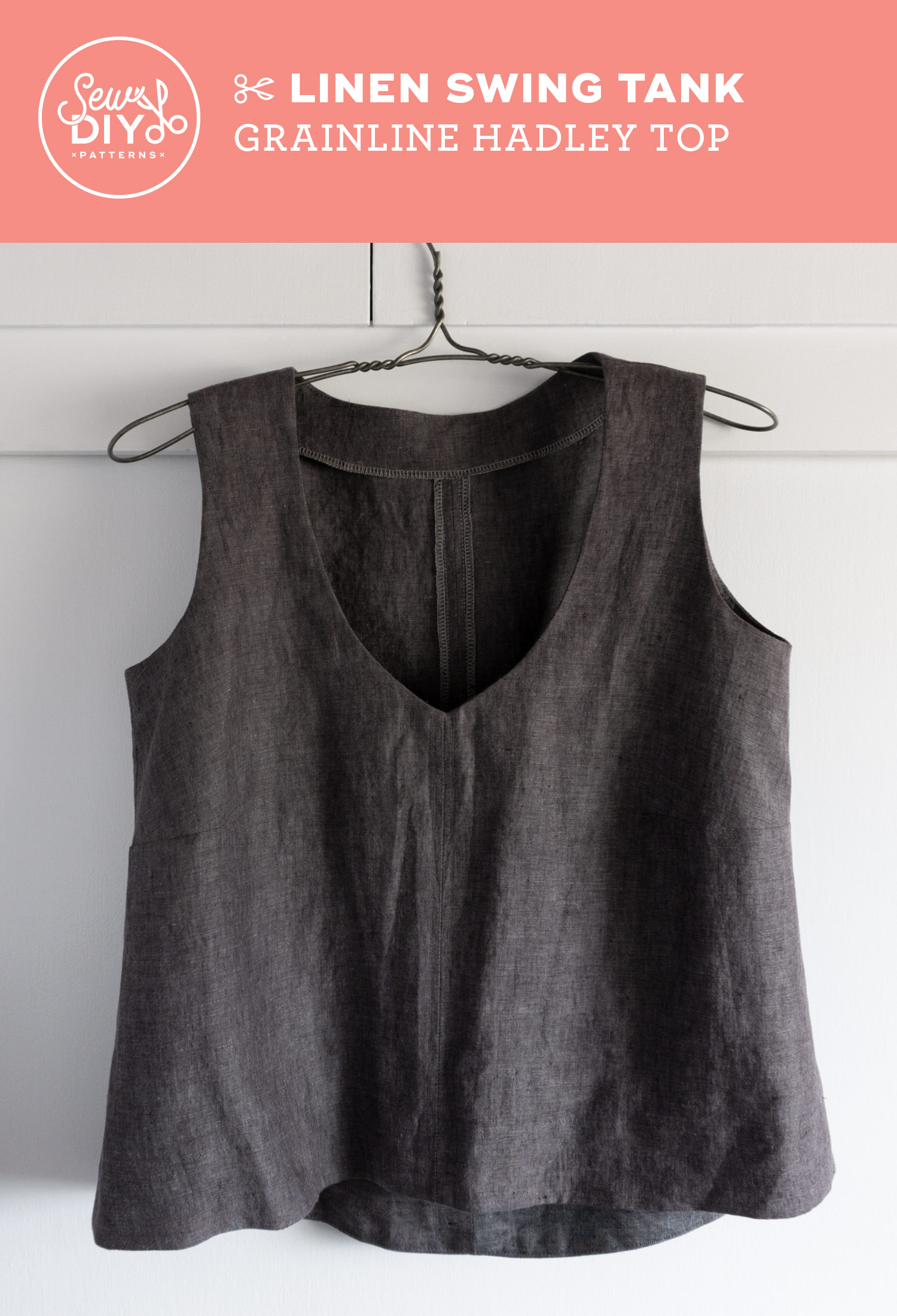 DIY Linen Swing Tank - Review of the Hadley Top pattern by Grainline Studio | Sew DIY