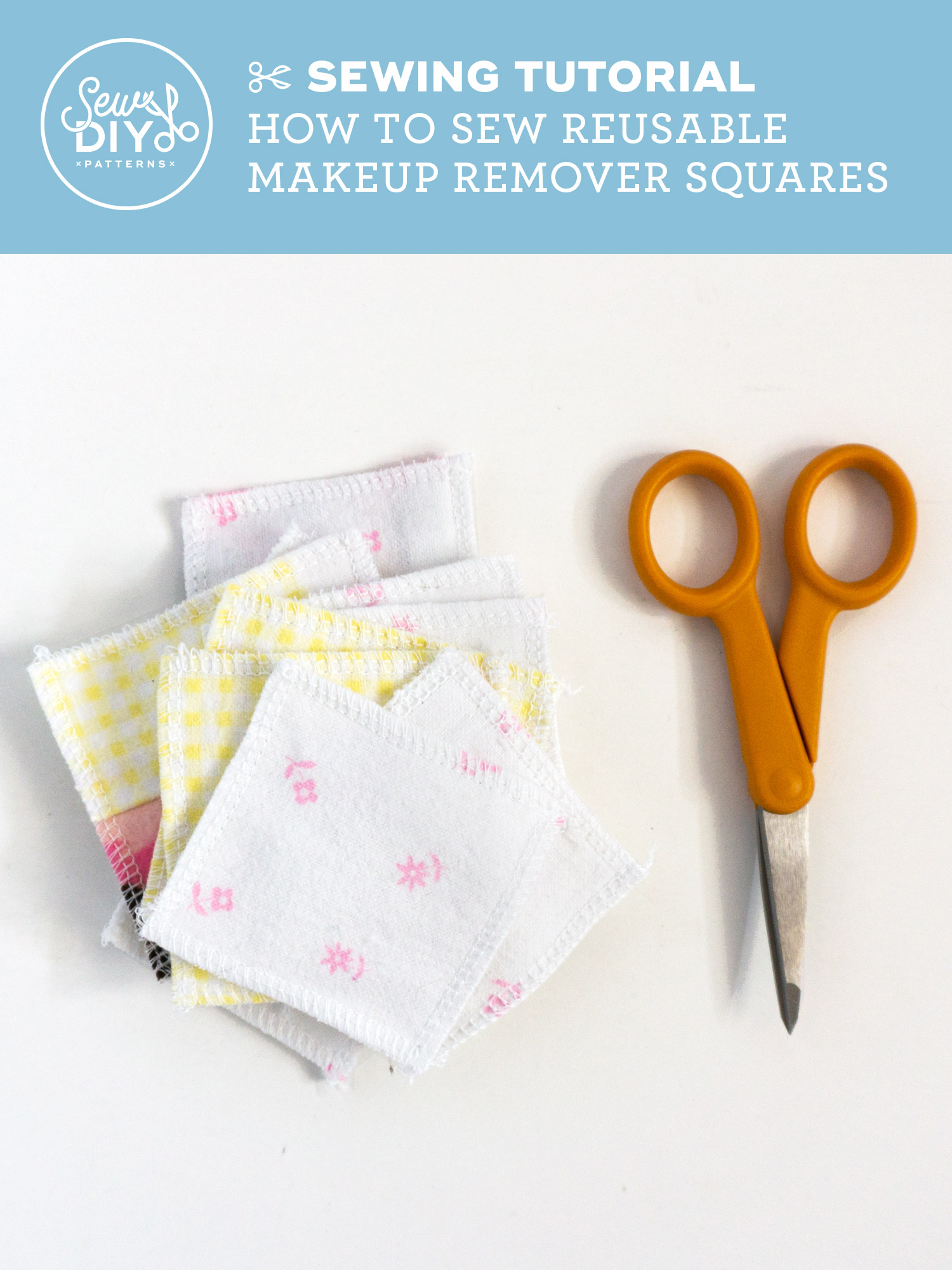How to Sew Reusable Makeup Remover Squares