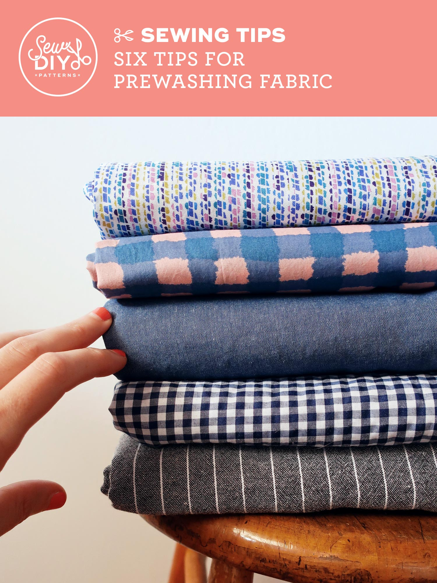 VIDEO Six Tips for Prewashing Fabric by Sew DIY