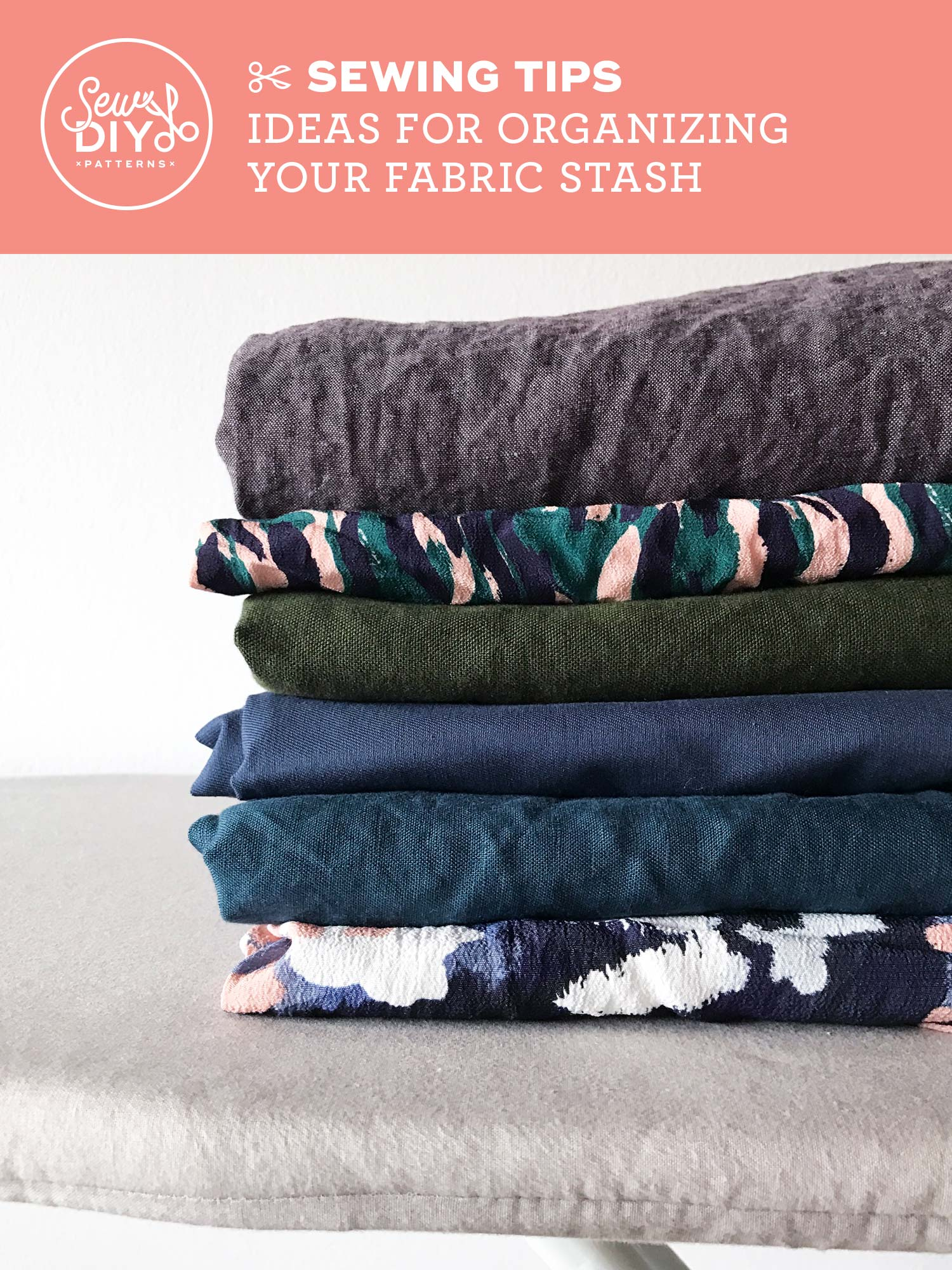 Ideas and Tips for Organizing Your Fabric Stash from Sew DIY