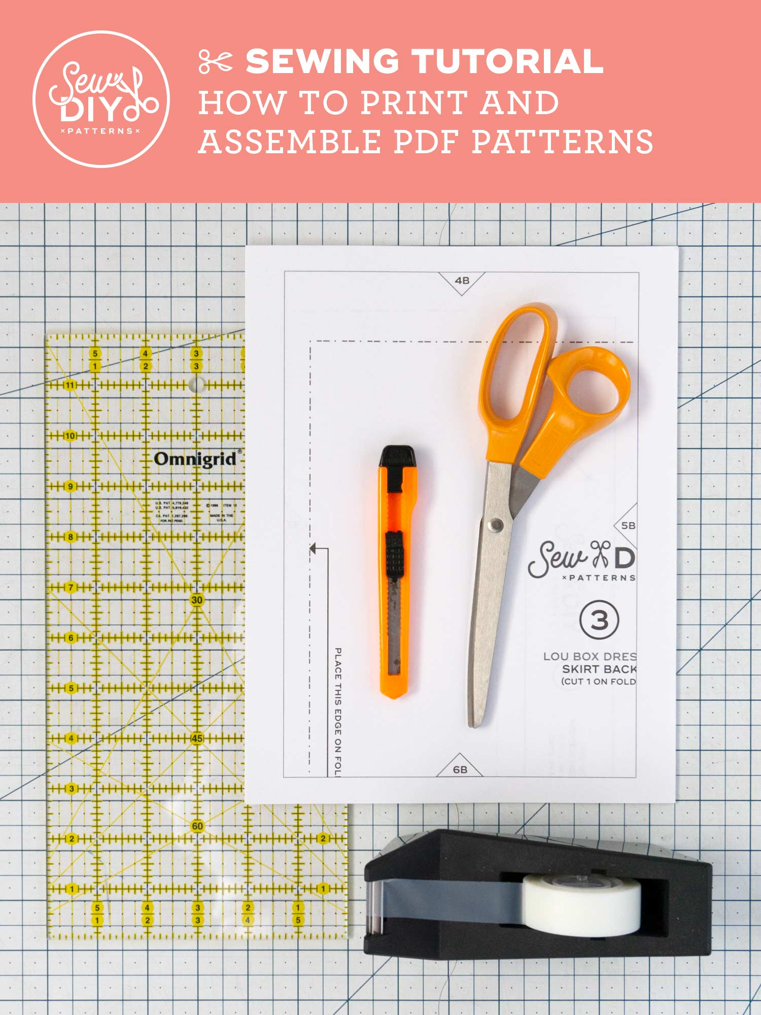 Learn how to print and assemble PDF sewing patterns in this video from Sew DIY