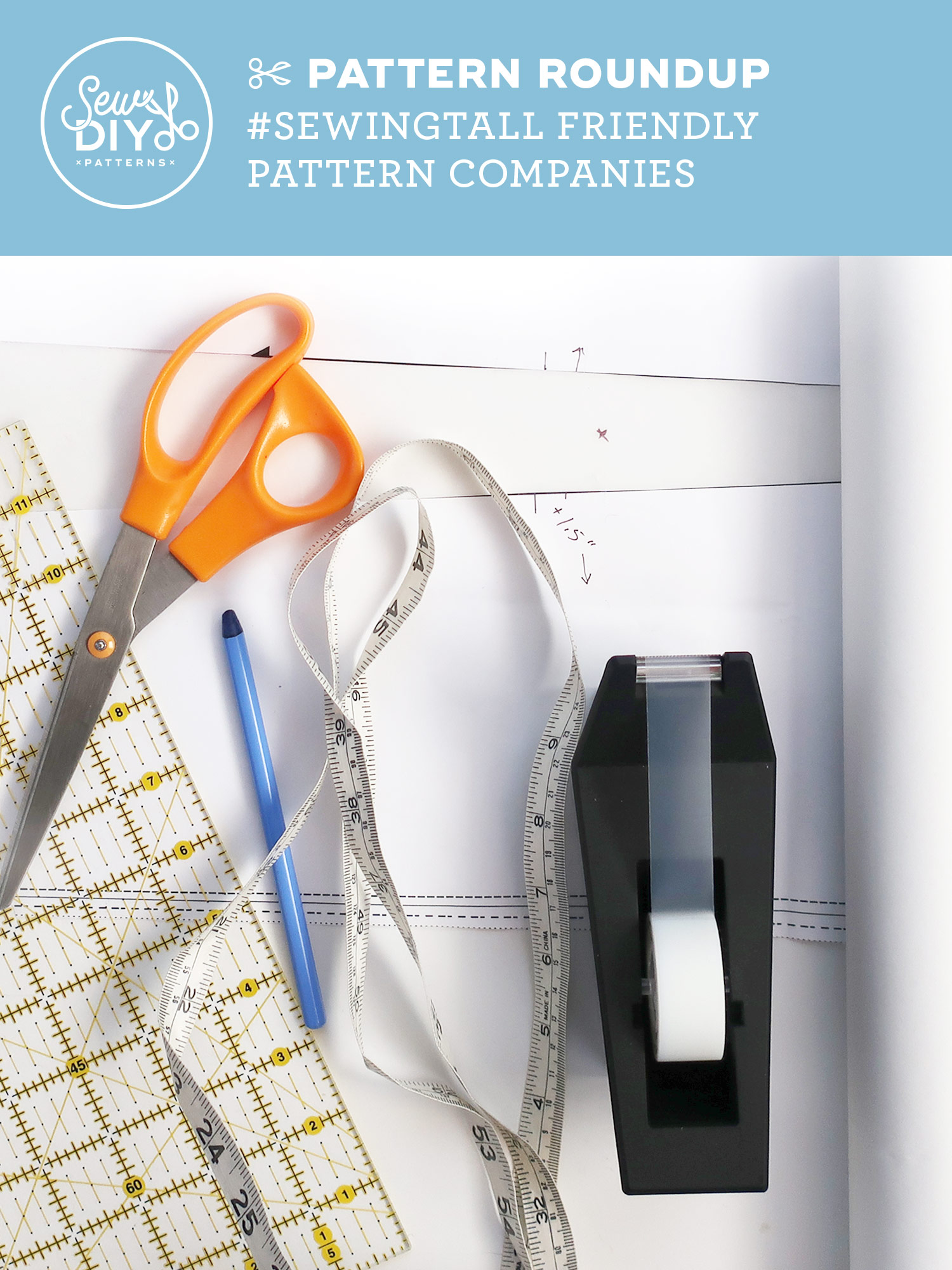 2019 List of Sewing Pattern Companies for Tall Women by Sew DIY