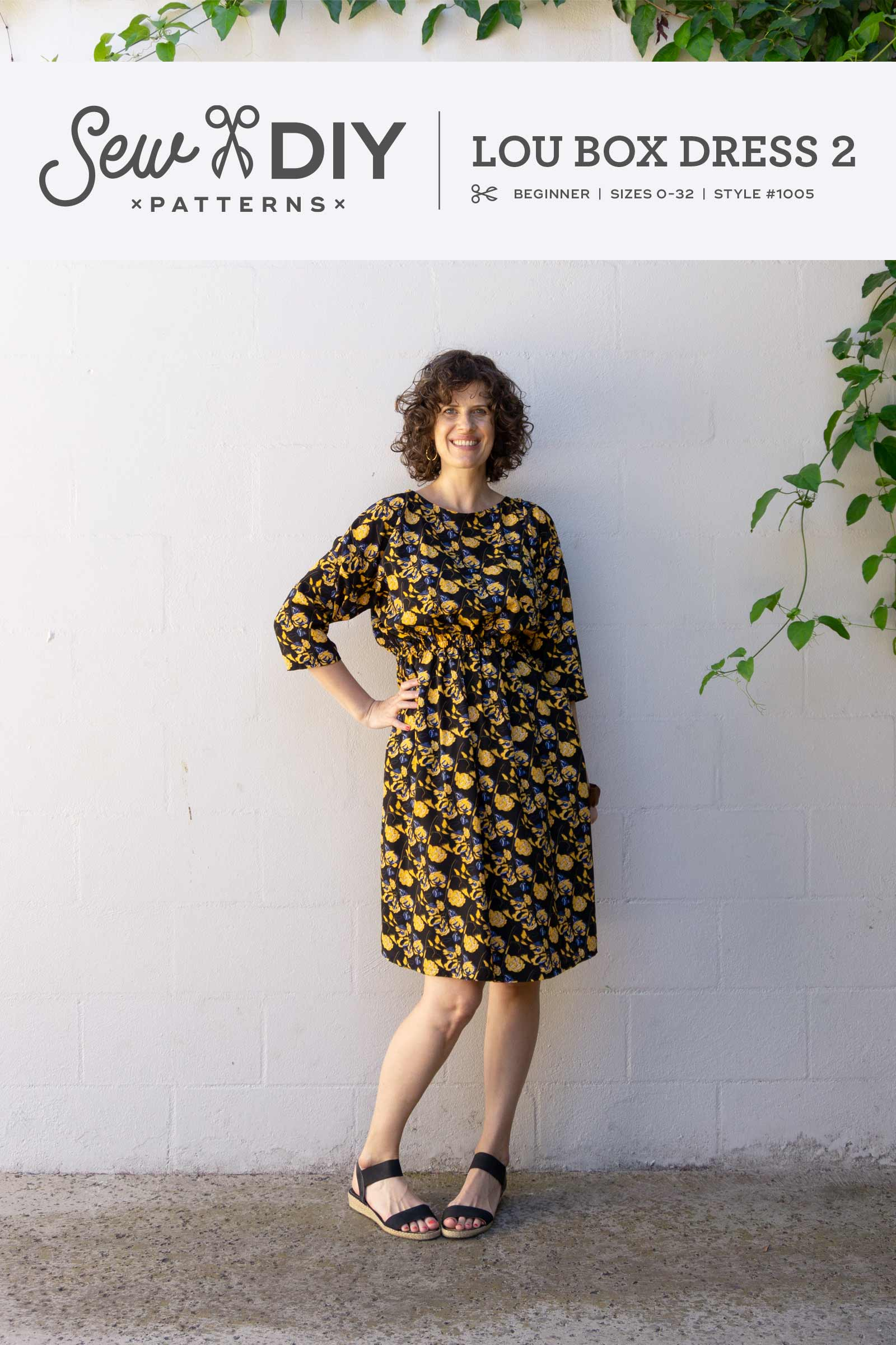 Announcing! The relaunch of the Lou Box Dress 2 pdf sewing pattern