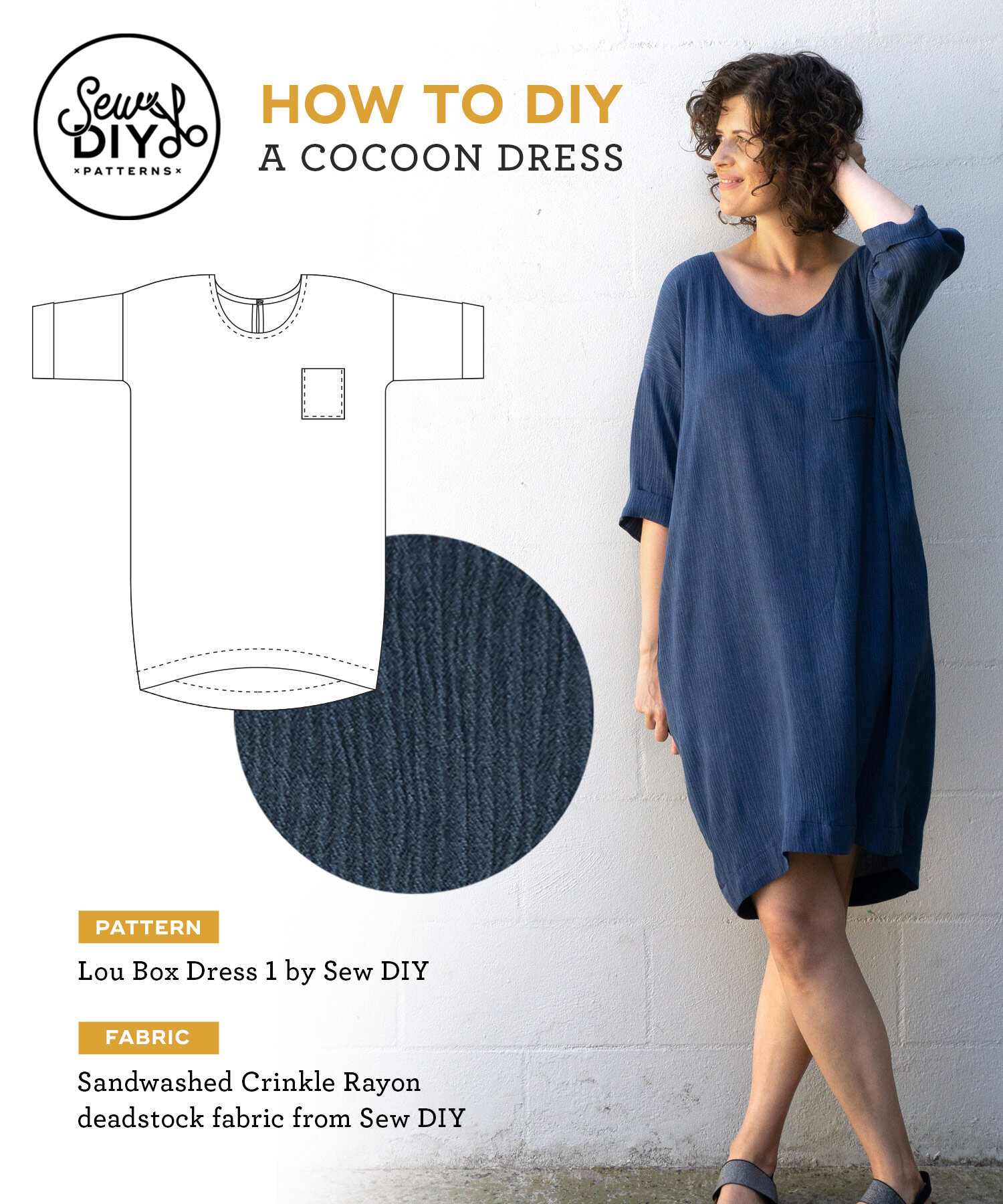 How to DIY a cocoon dress by Sew DIY