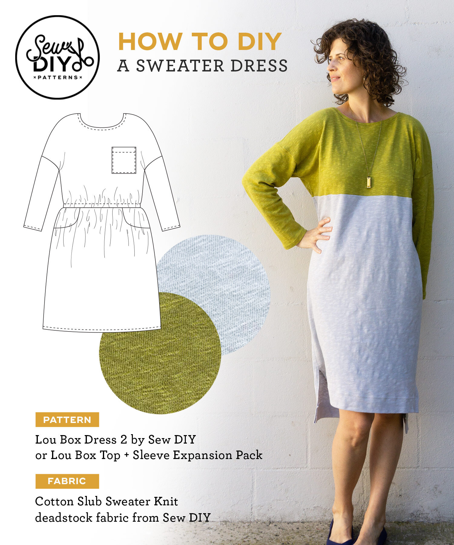 Learn how to sew your own sweater dress | Sew DIY