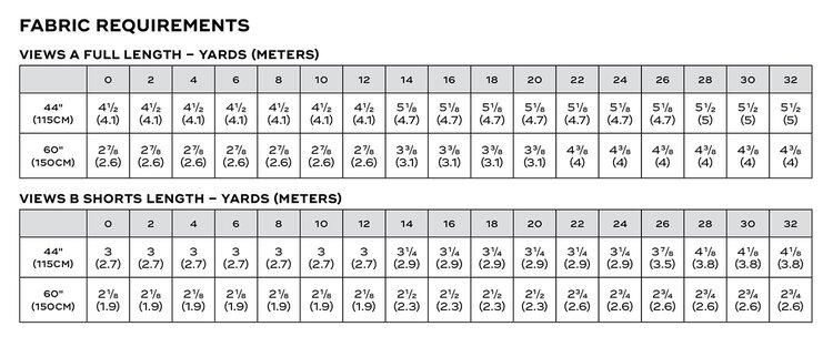 Dana Jumpsuit PDF pattern fabric requirements